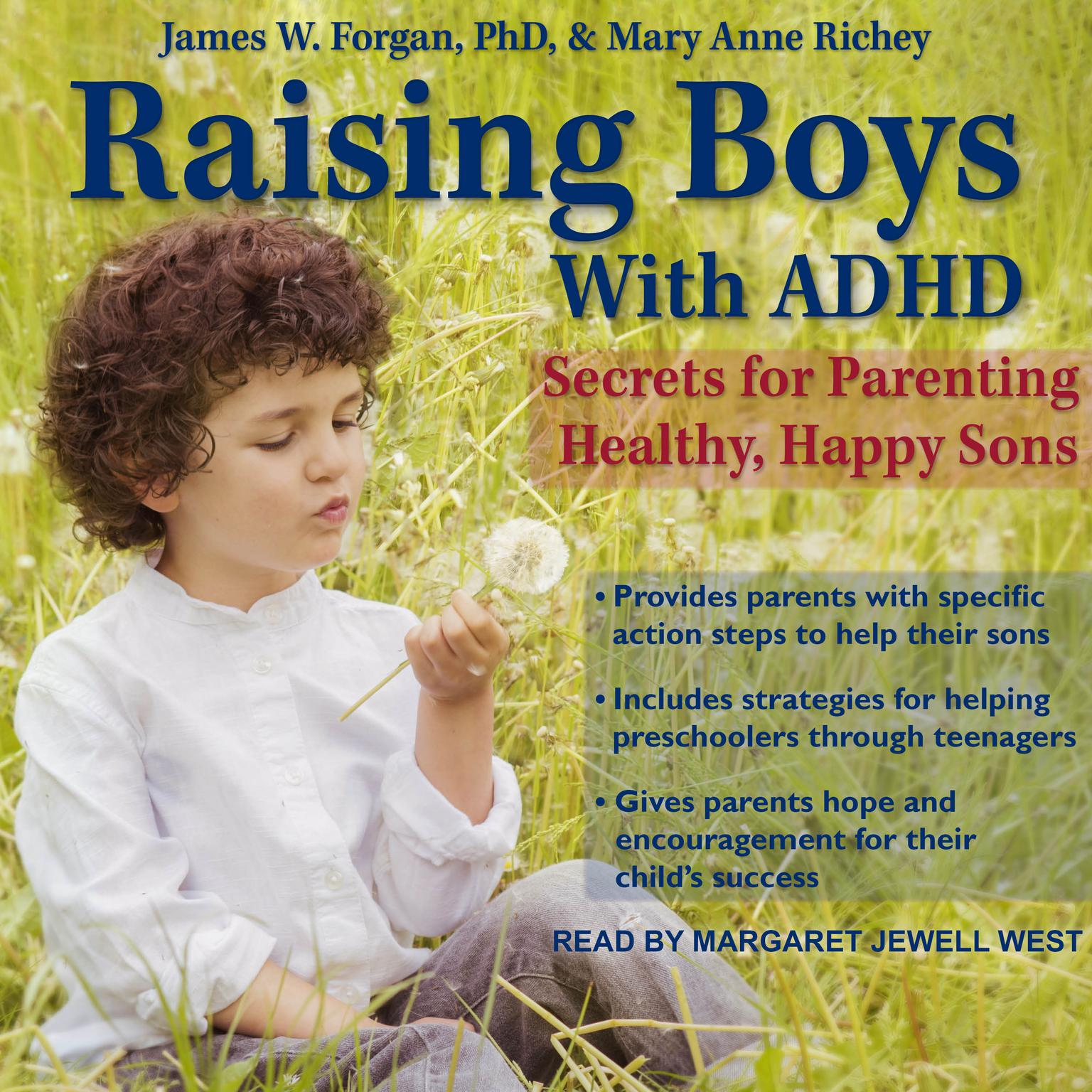 Printable Raising Boys with ADHD: Secrets for Parenting Healthy, Happy Sons Audiobook Cover Art