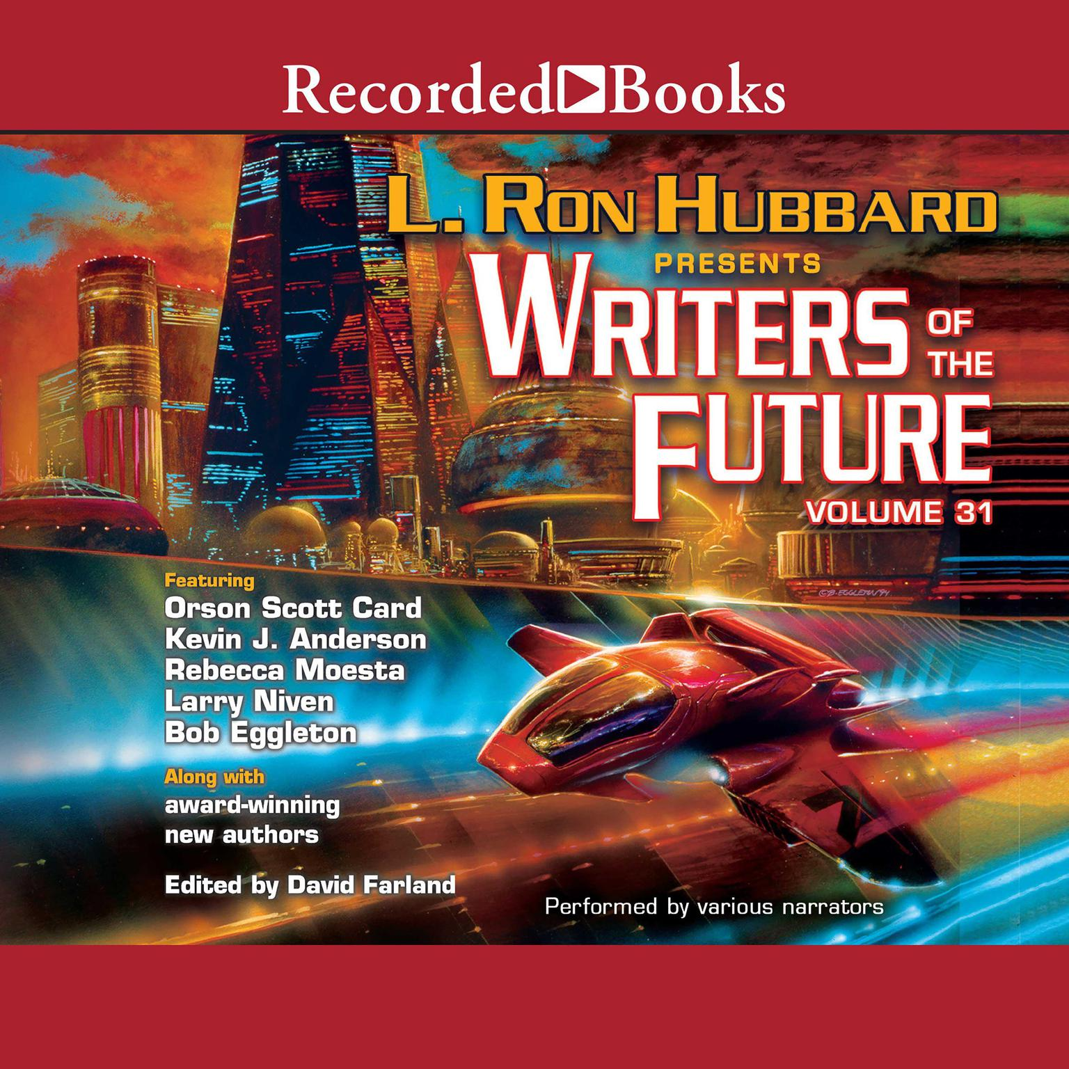 Printable Writers of the Future Volume 31 Audiobook Cover Art