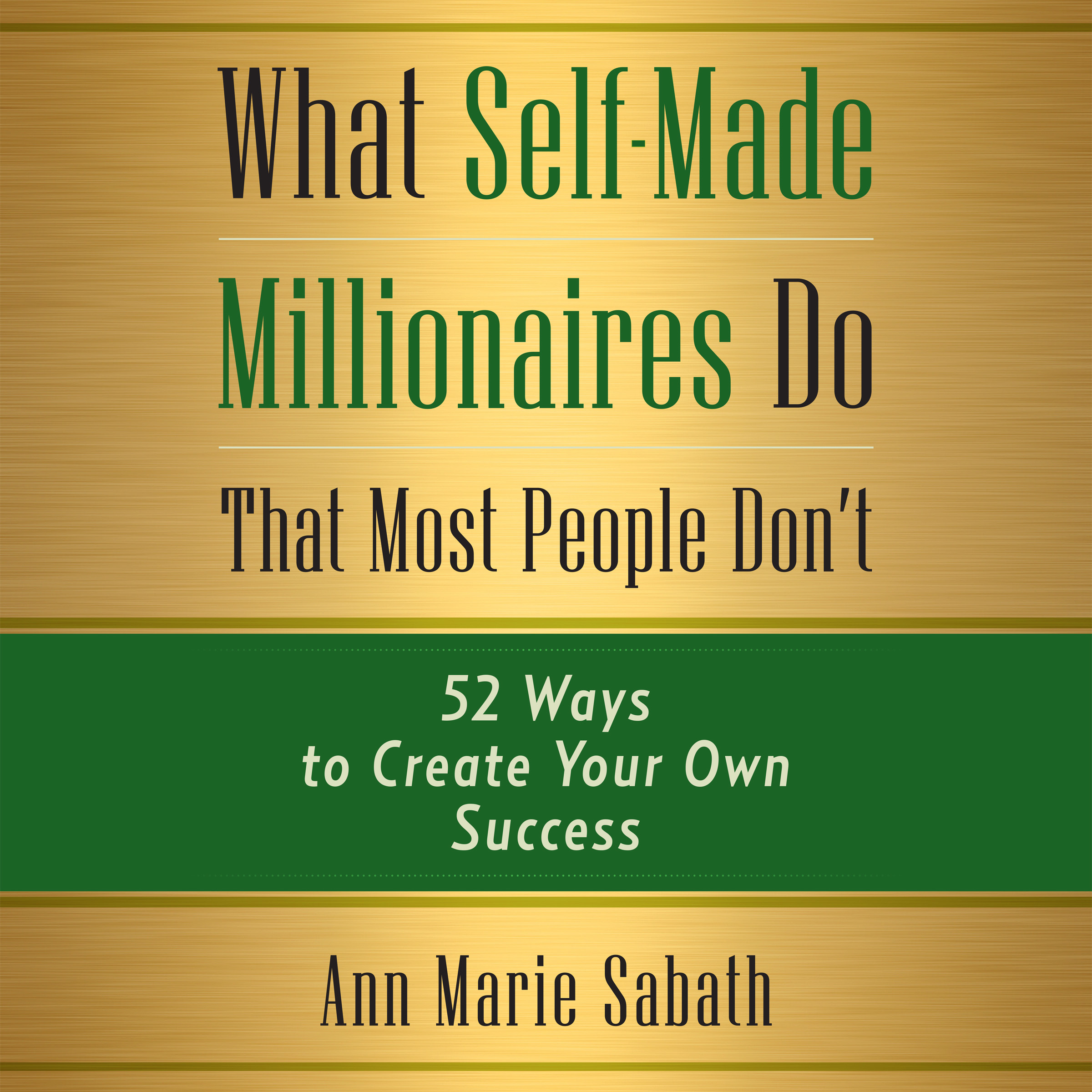 Printable What Self-Made Millionaires Do that Most People Don't: 52 Ways to Create Your Own Success Audiobook Cover Art