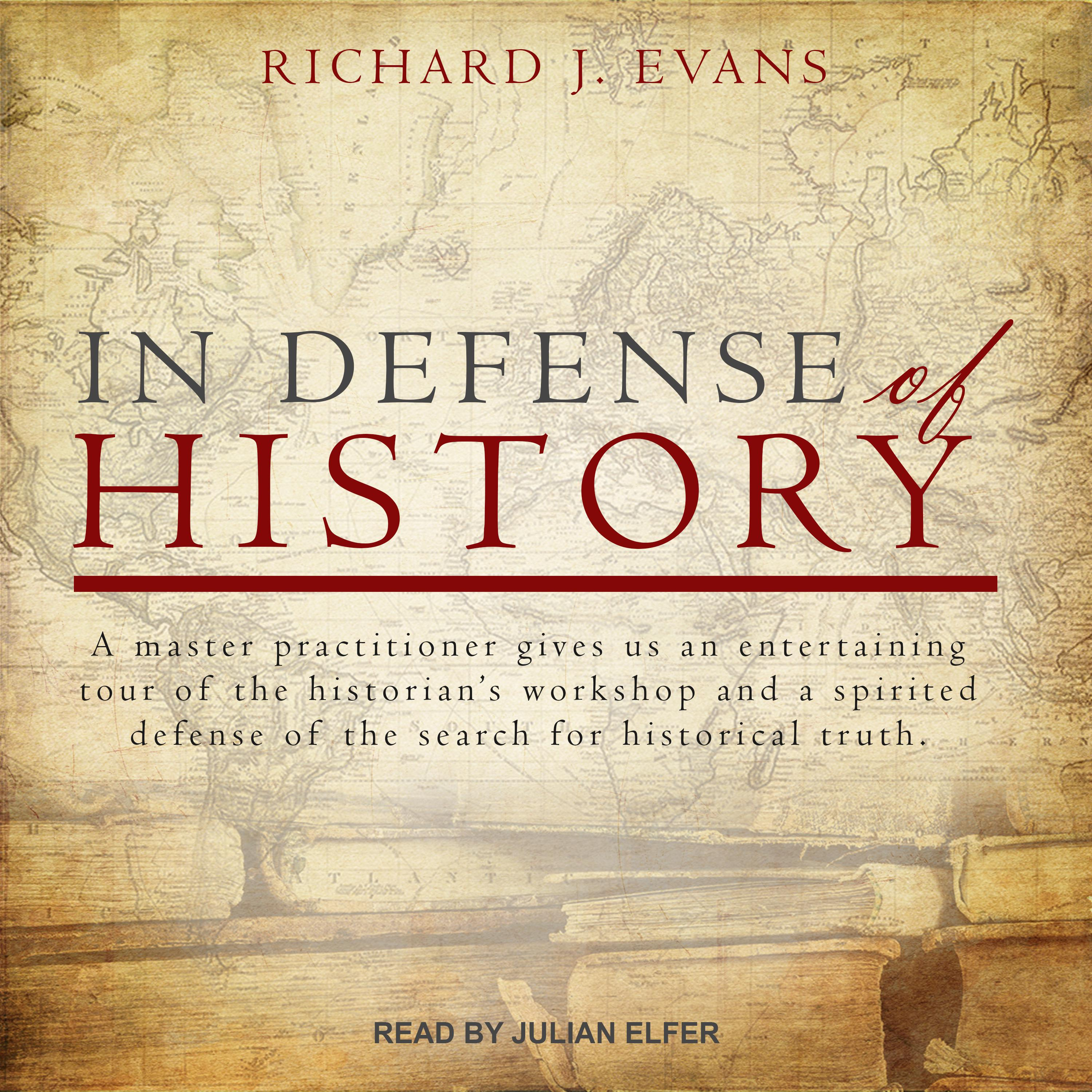 Printable In Defense of History Audiobook Cover Art