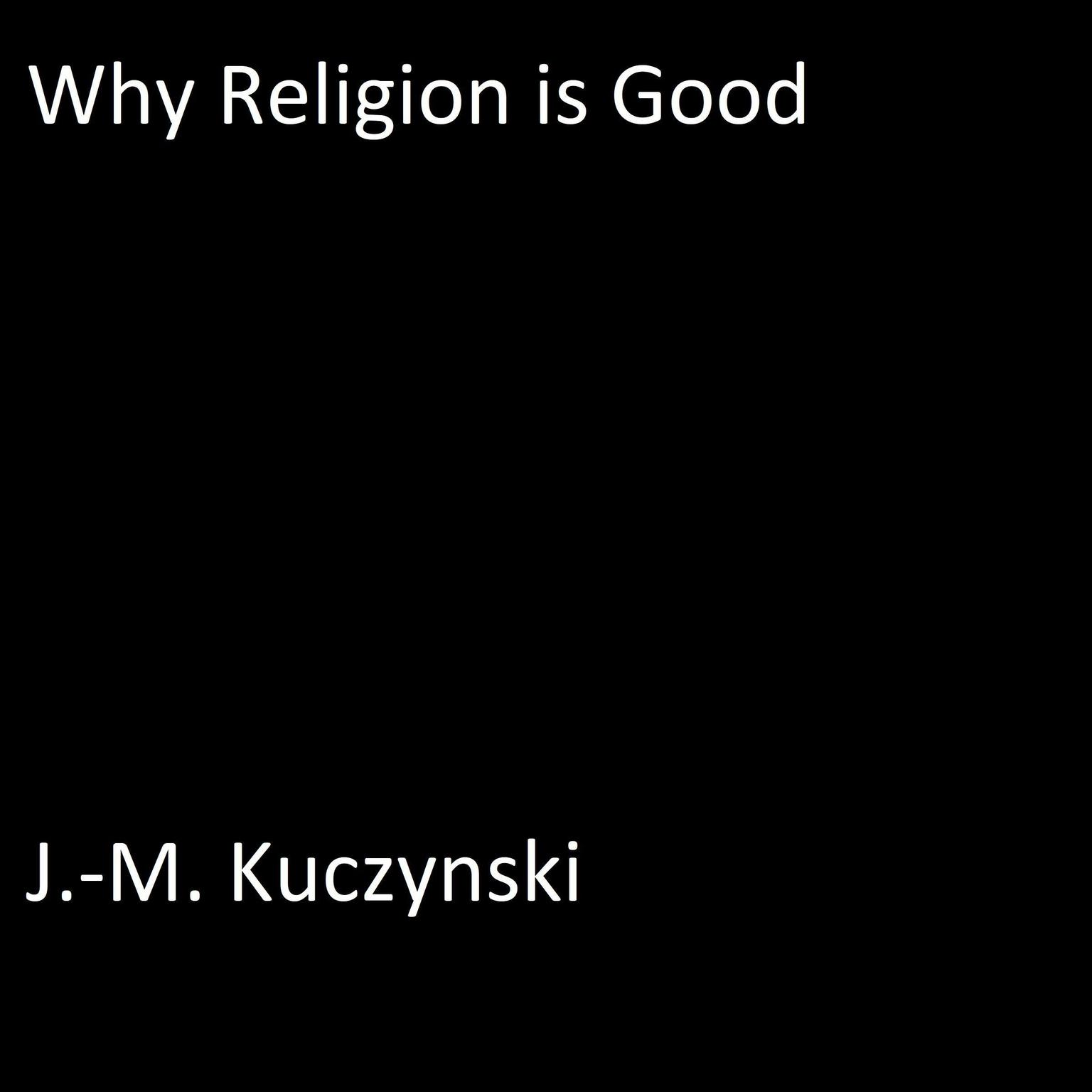 Printable Why Religion is Good Audiobook Cover Art