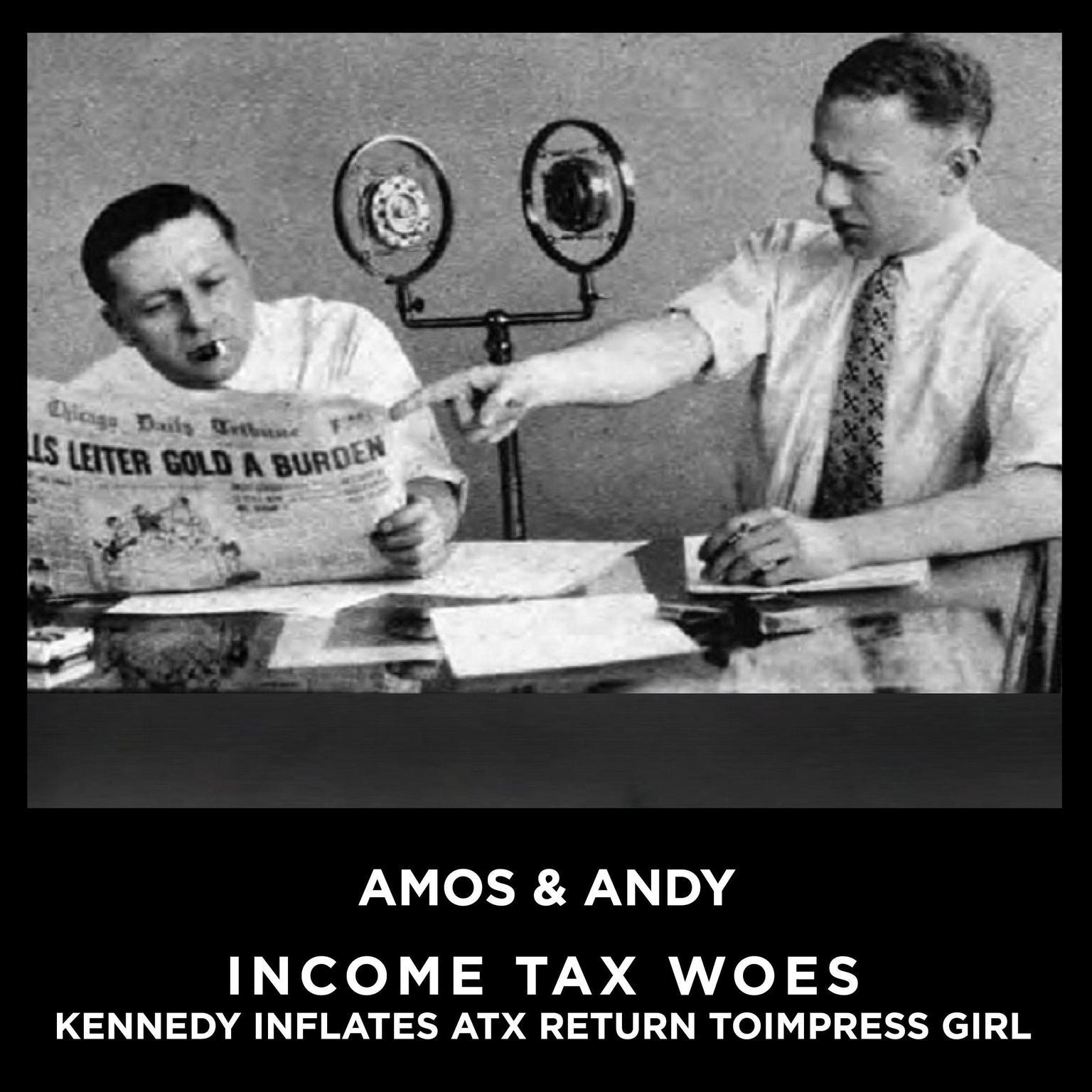 Printable Income Tax aka IncomeTax Woes Kennedy Inflates Tax Return To Impress Girl Audiobook Cover Art