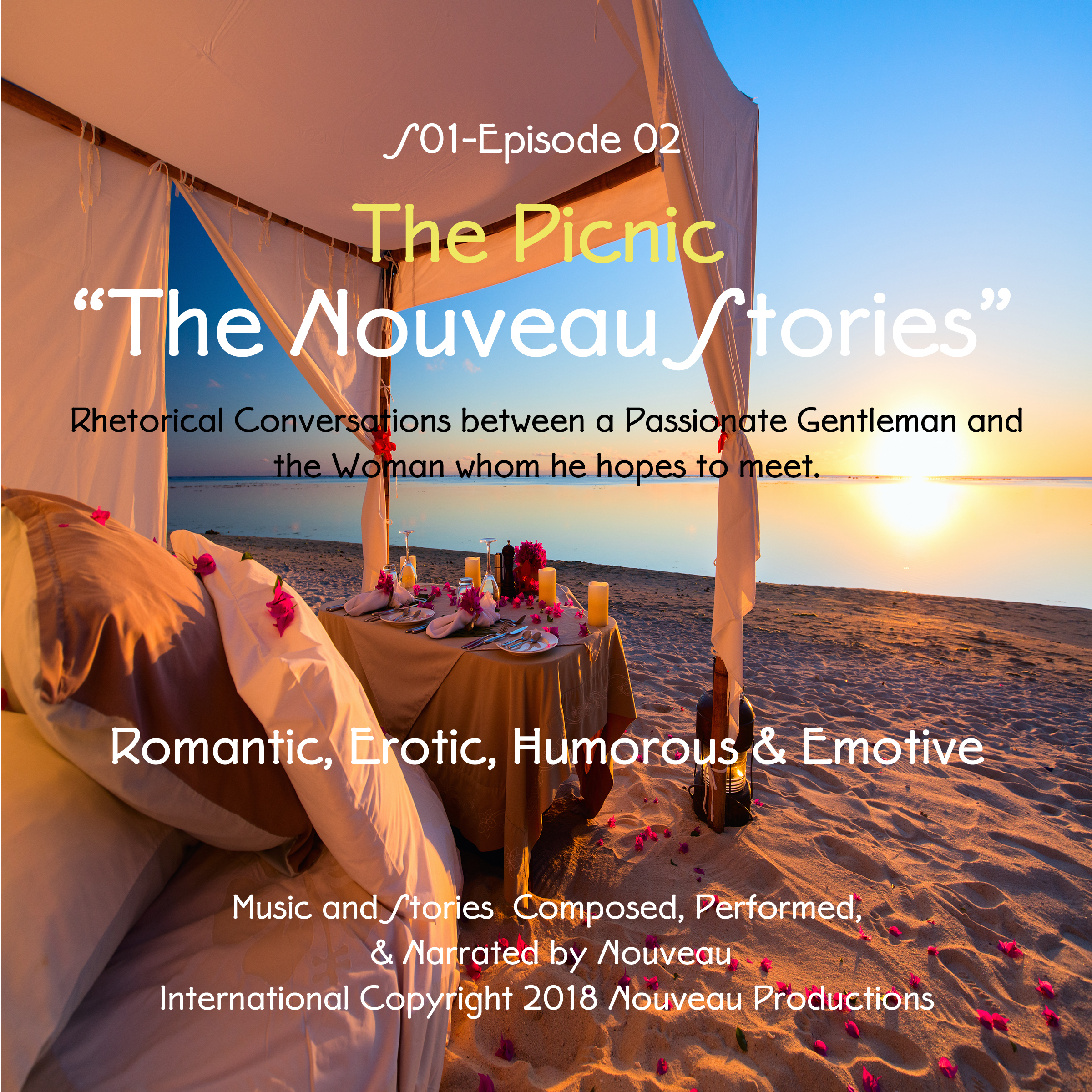 Printable 'The Nouveau Stories' (Series One-Episode -02) 'The Picnic' Audiobook Cover Art