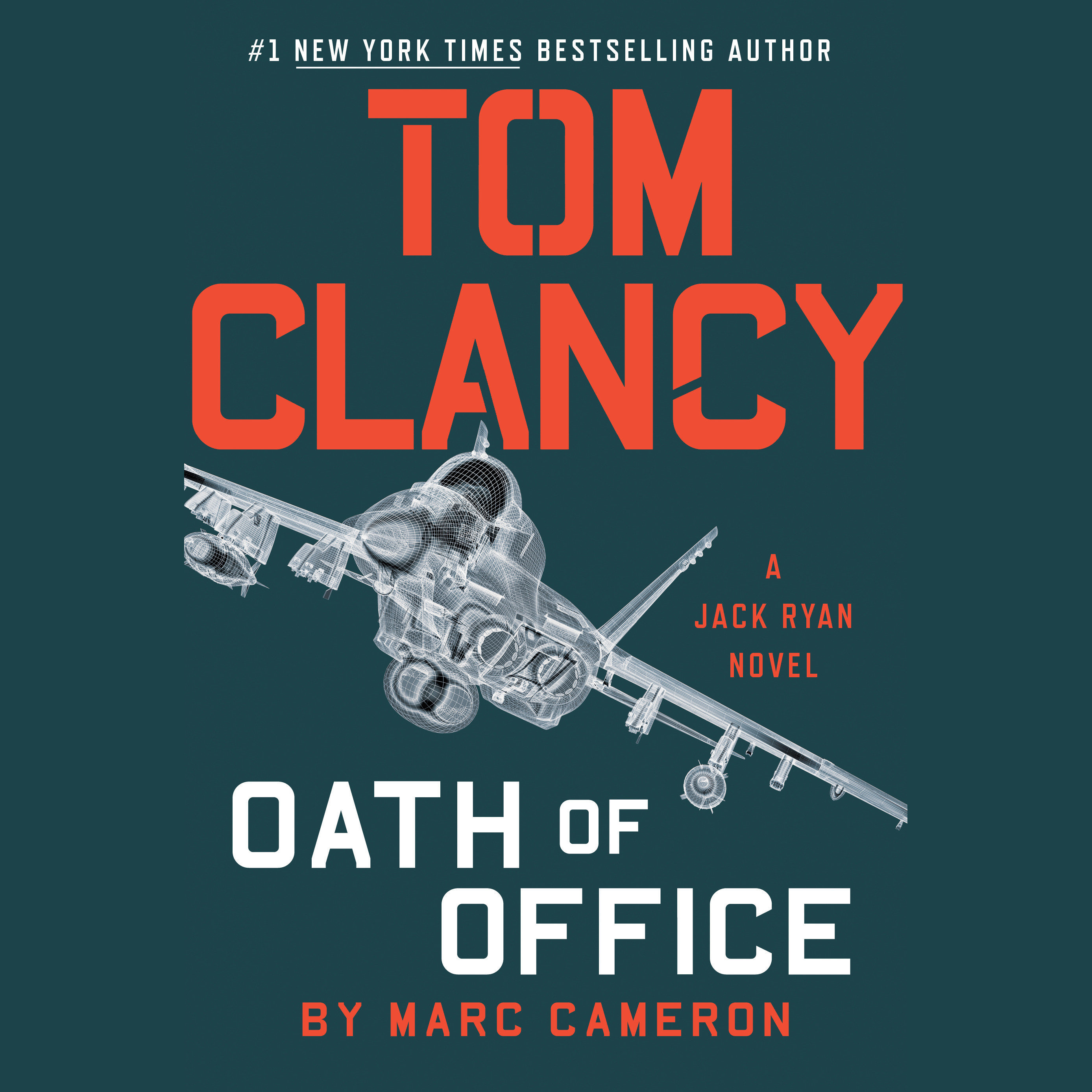 Printable Tom Clancy Oath of Office Audiobook Cover Art