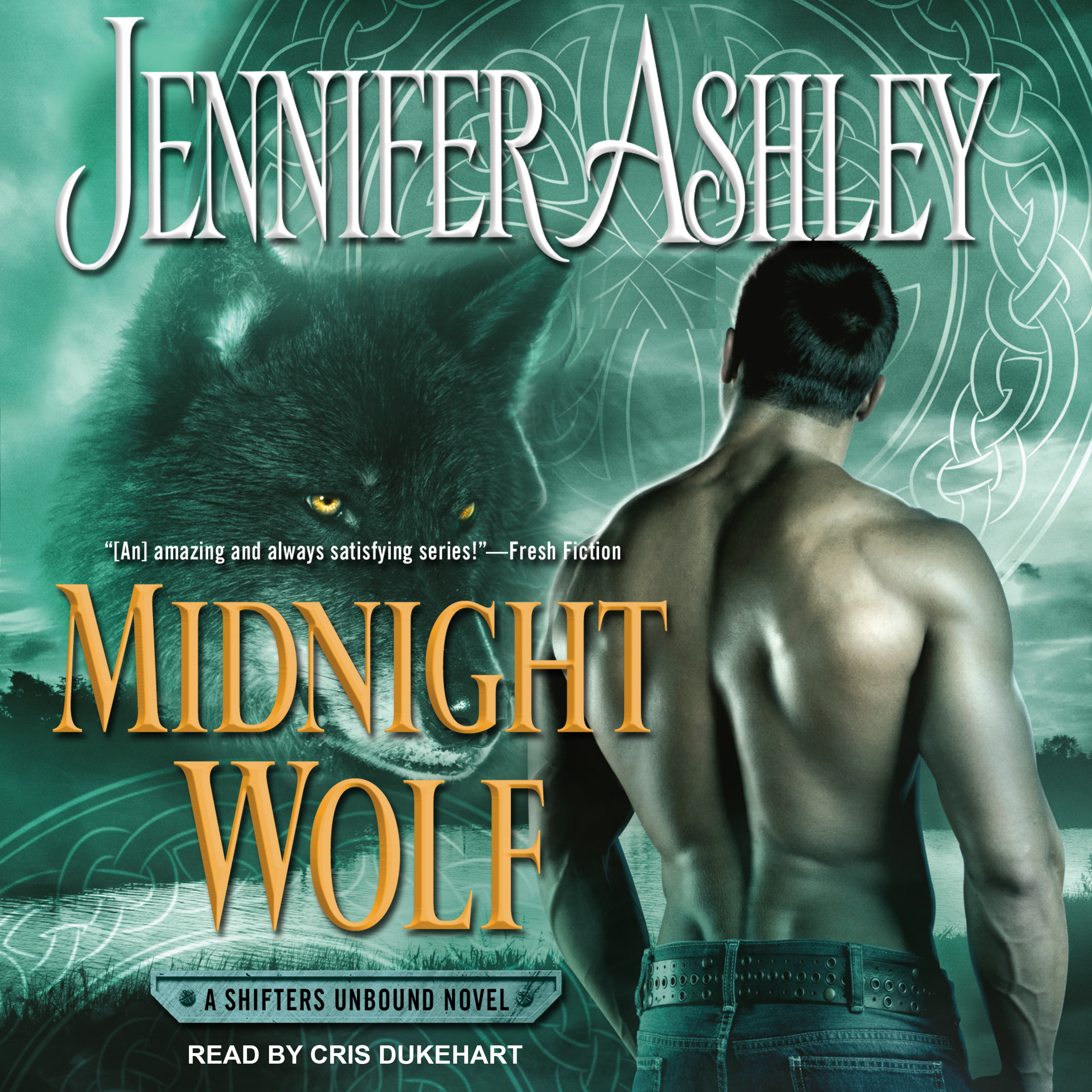 Printable Midnight Wolf Audiobook Cover Art