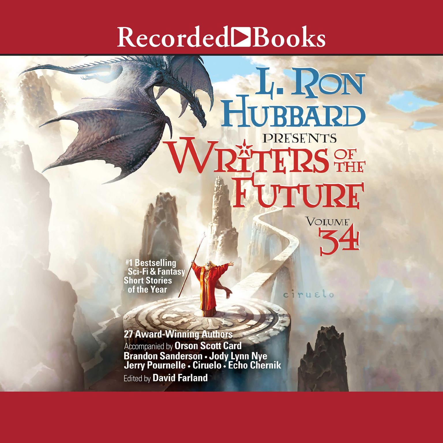 Printable Writers of the Future Volume 34 Audiobook Cover Art