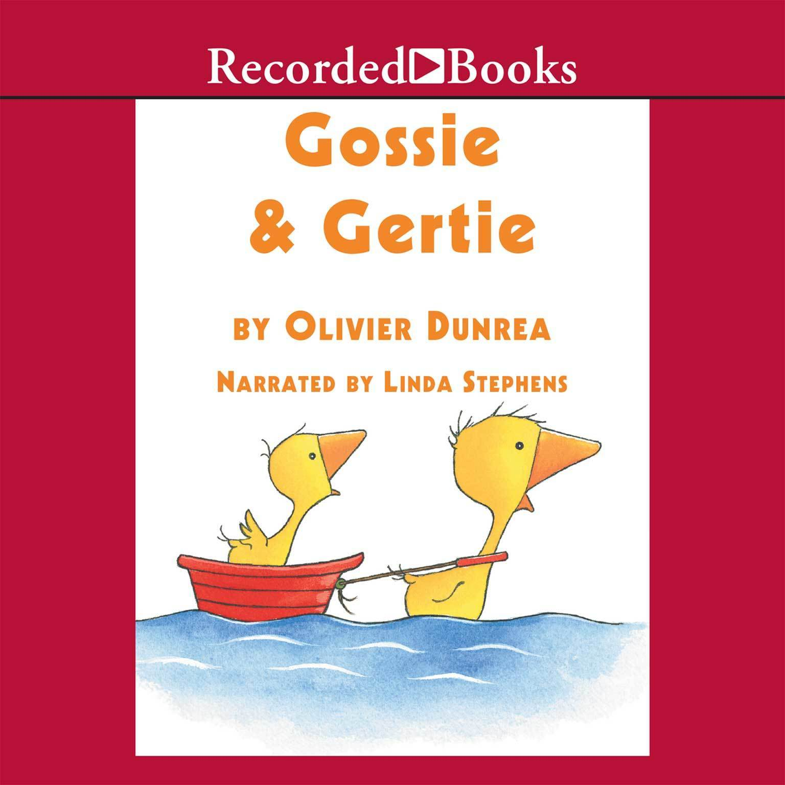 Printable Gossie and Gertie Audiobook Cover Art
