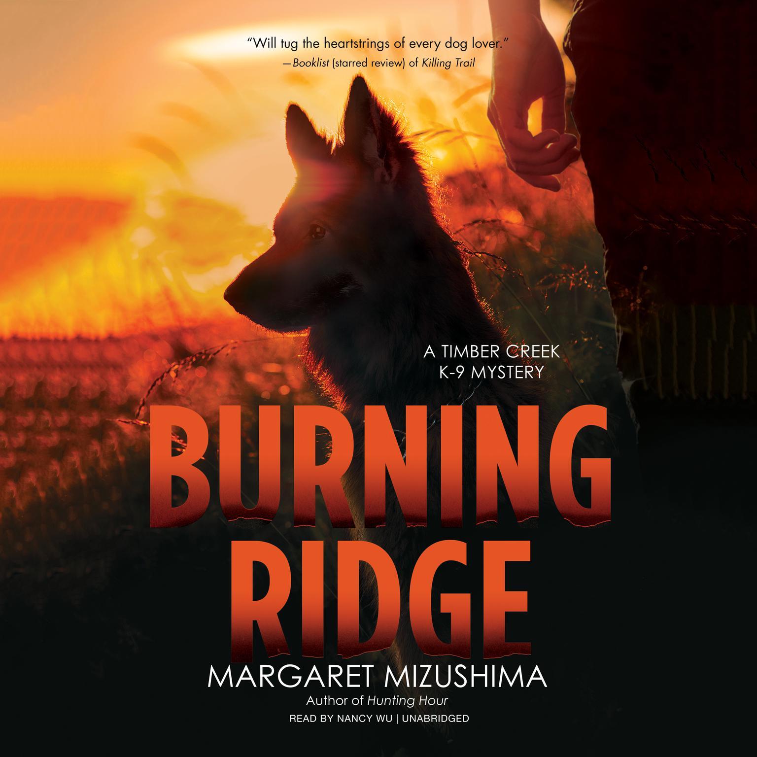Printable Burning Ridge: A Timber Creek K-9 Mystery Audiobook Cover Art