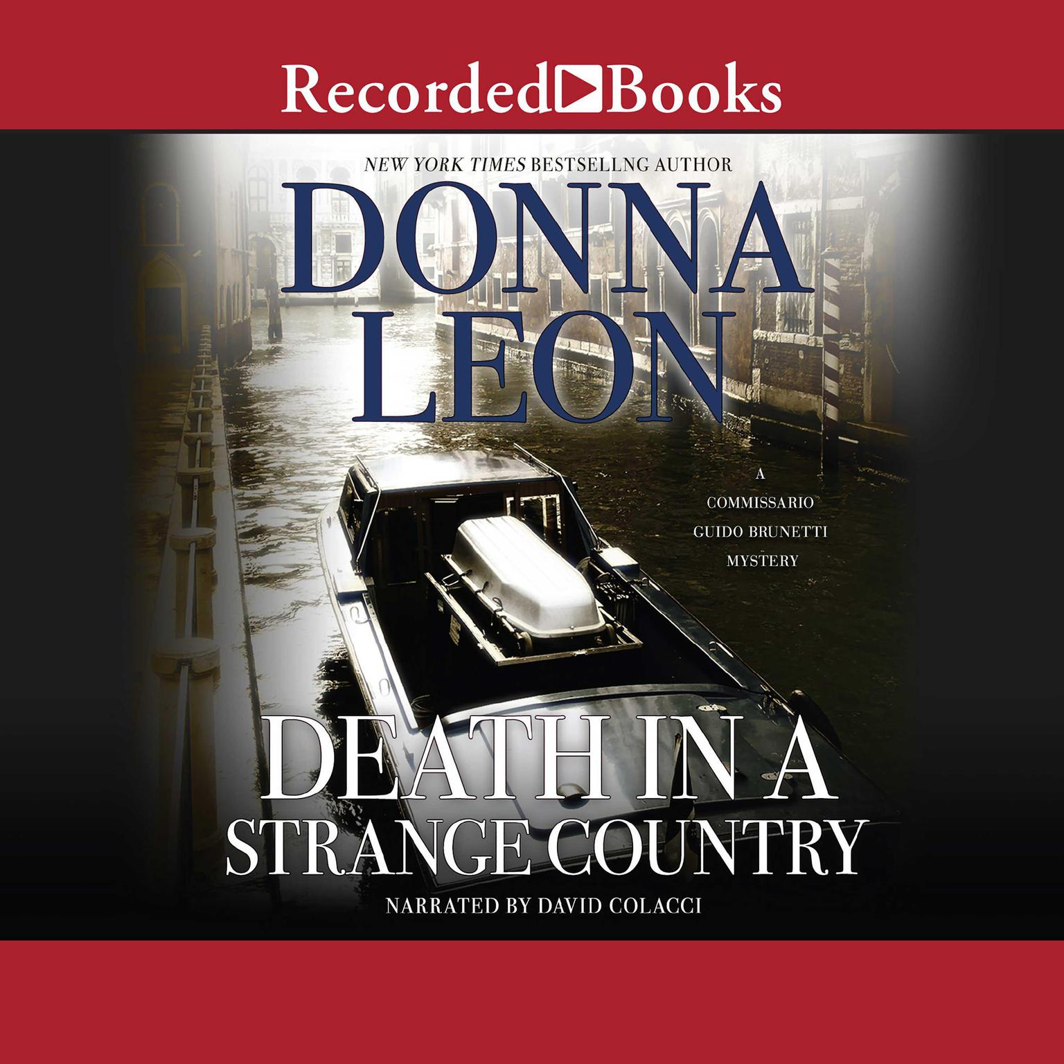 Printable Death in a Strange Country Audiobook Cover Art