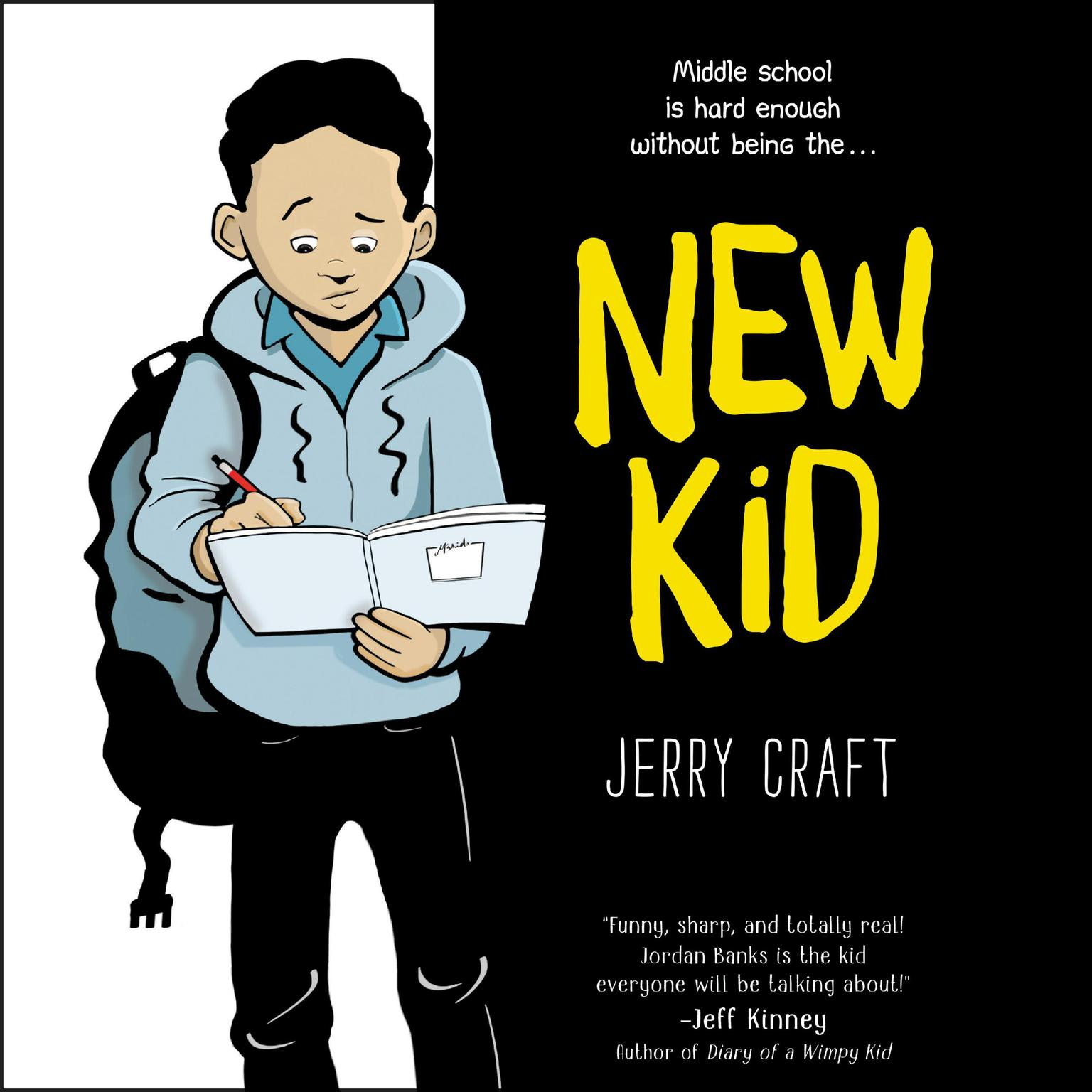 Printable New Kid Audiobook Cover Art