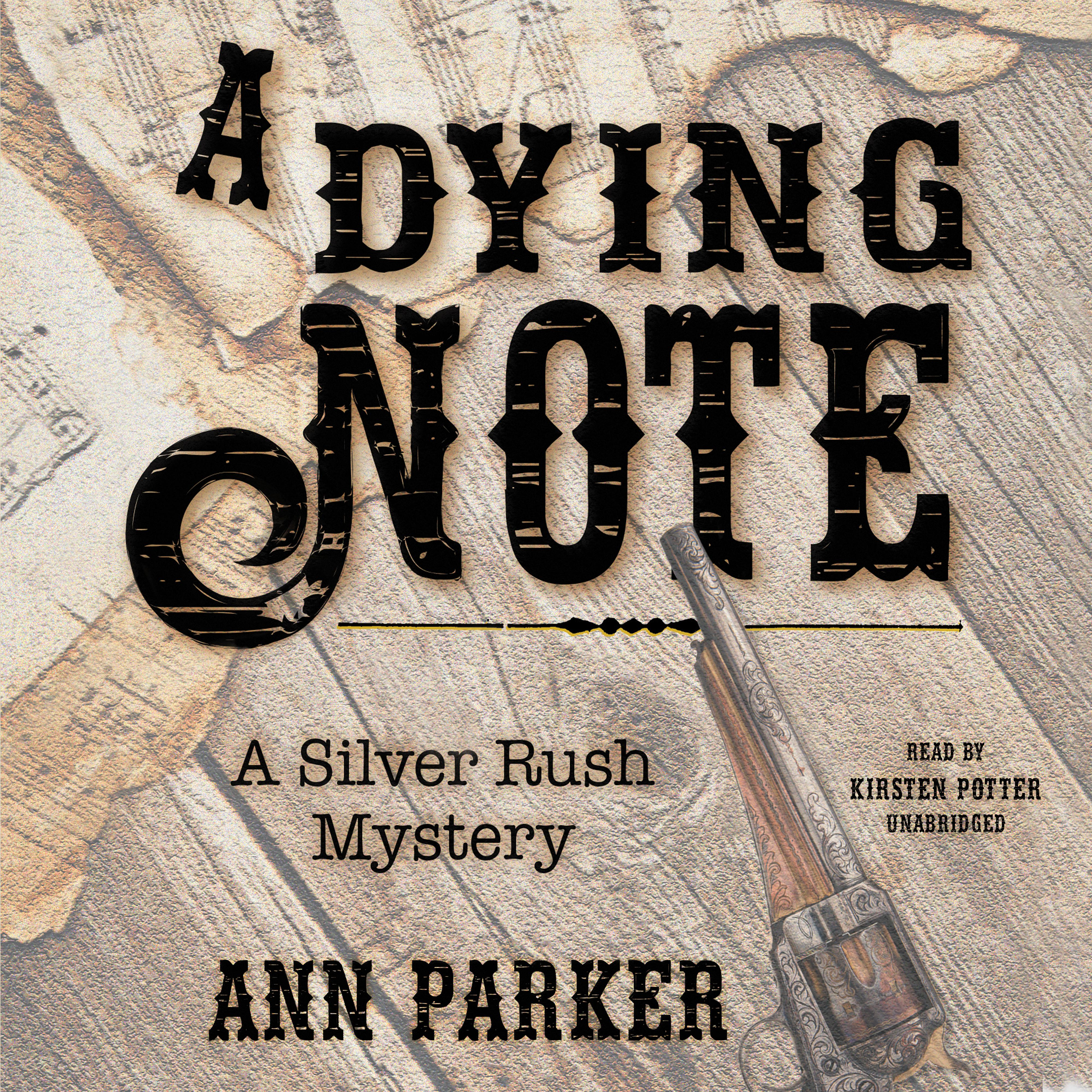 Printable A Dying Note: A Silver Rush Mystery Audiobook Cover Art