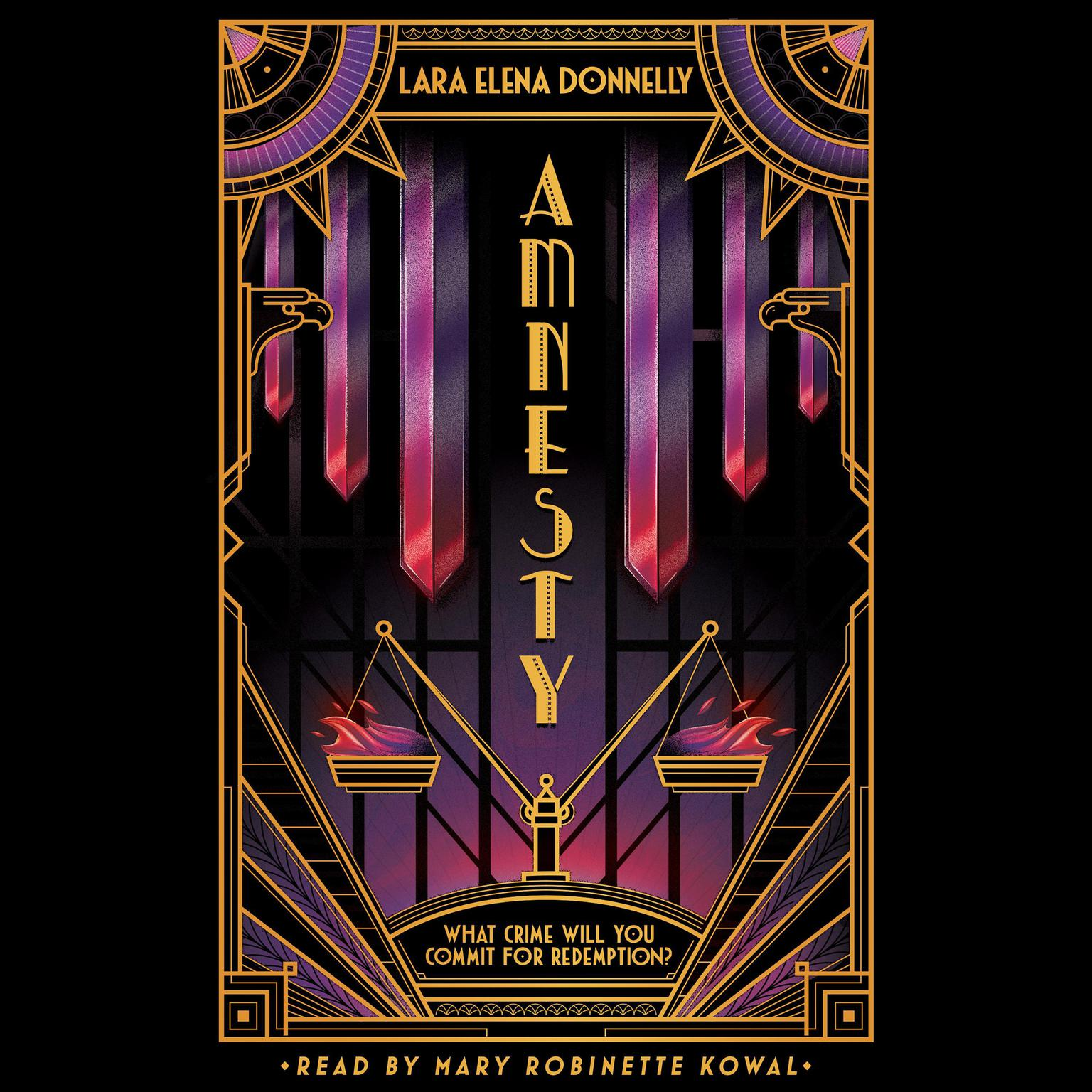 Printable Amnesty: Book 3 in the Amberlough Dossier Audiobook Cover Art