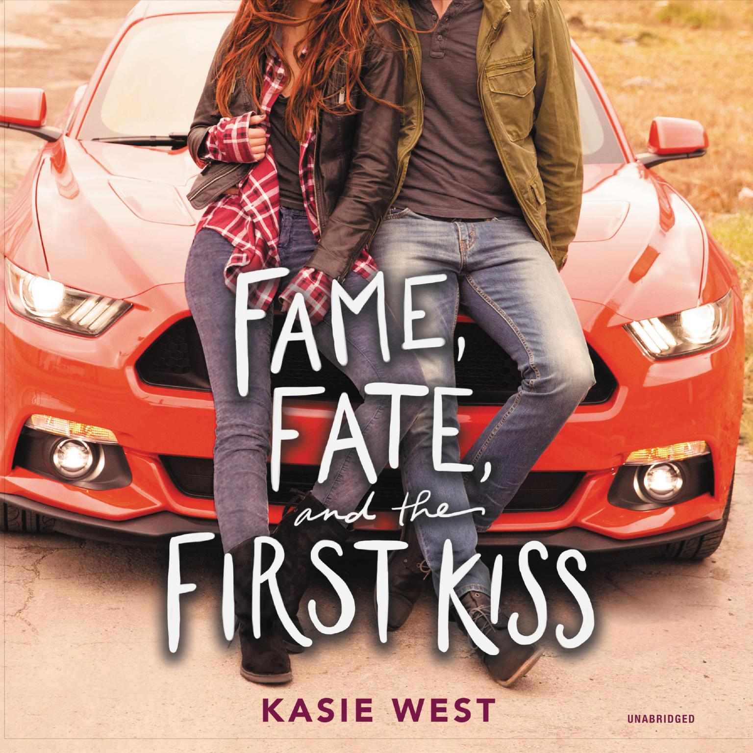 Printable Fame, Fate, and the First Kiss Audiobook Cover Art