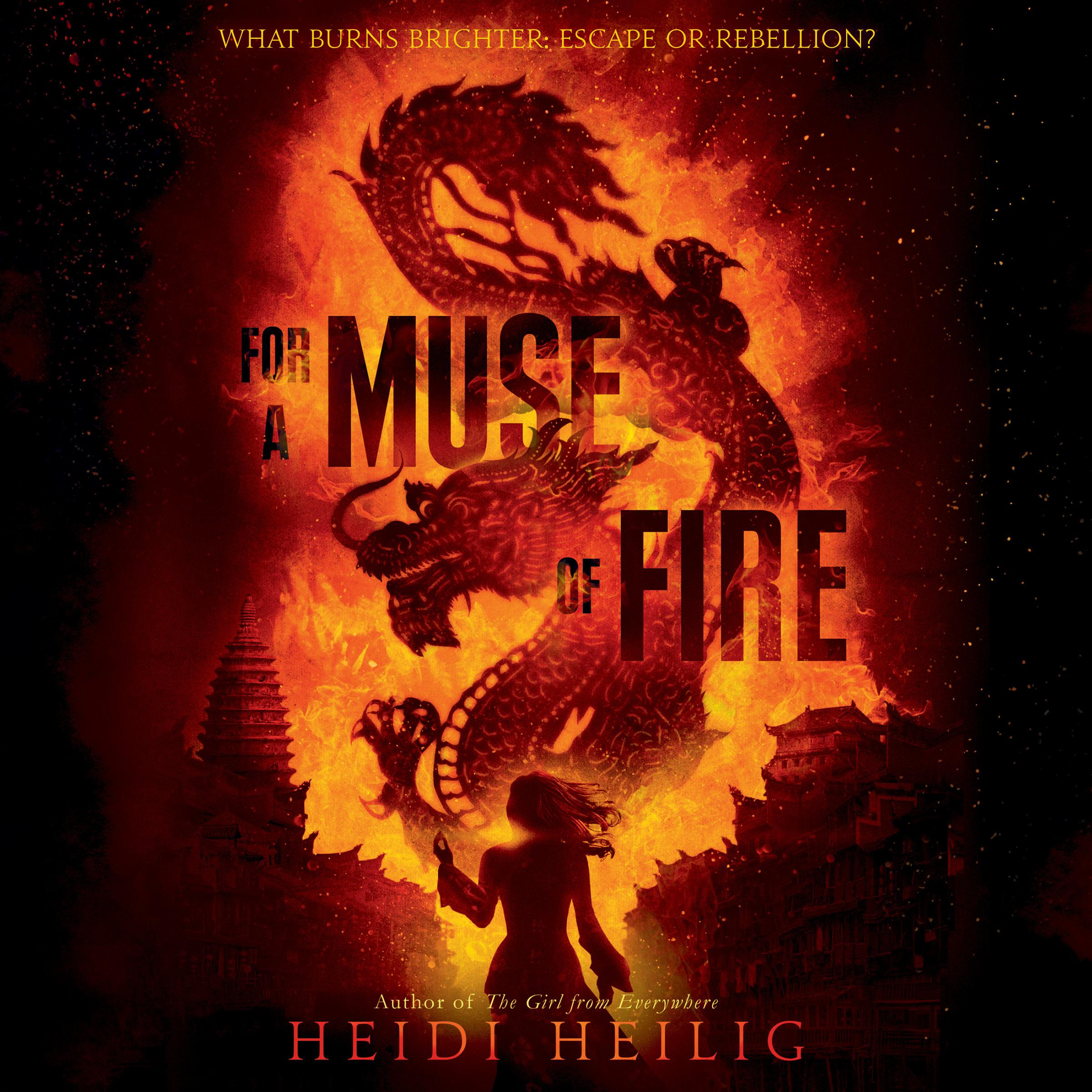 Printable For a Muse of Fire Audiobook Cover Art