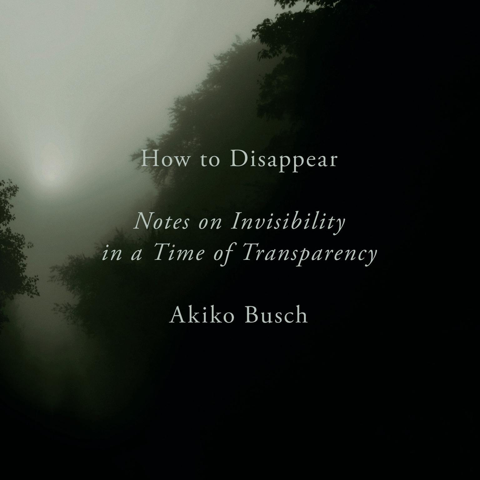 How to Disappear: Notes on Invisibility in a Time of Transparency Audiobook, by Akiko Busch