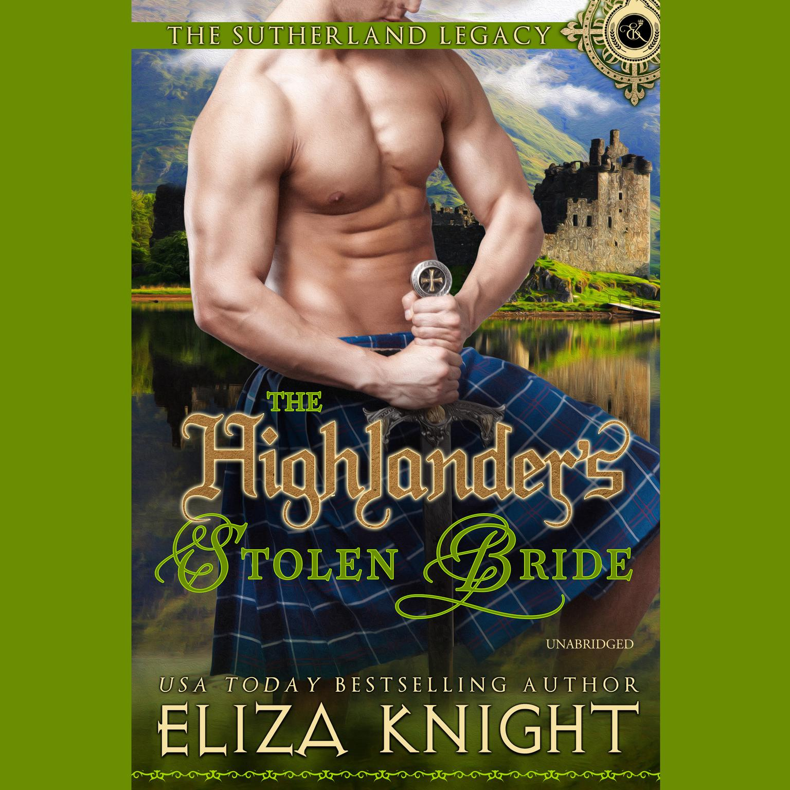 Printable The Highlander's Stolen Bride Audiobook Cover Art