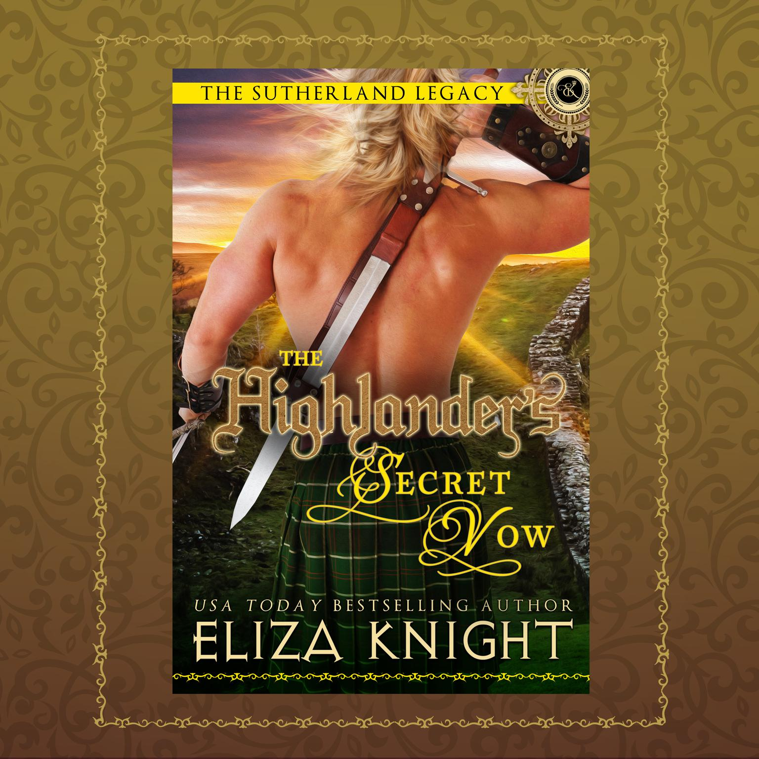 Printable The Highlander's Secret Vow Audiobook Cover Art