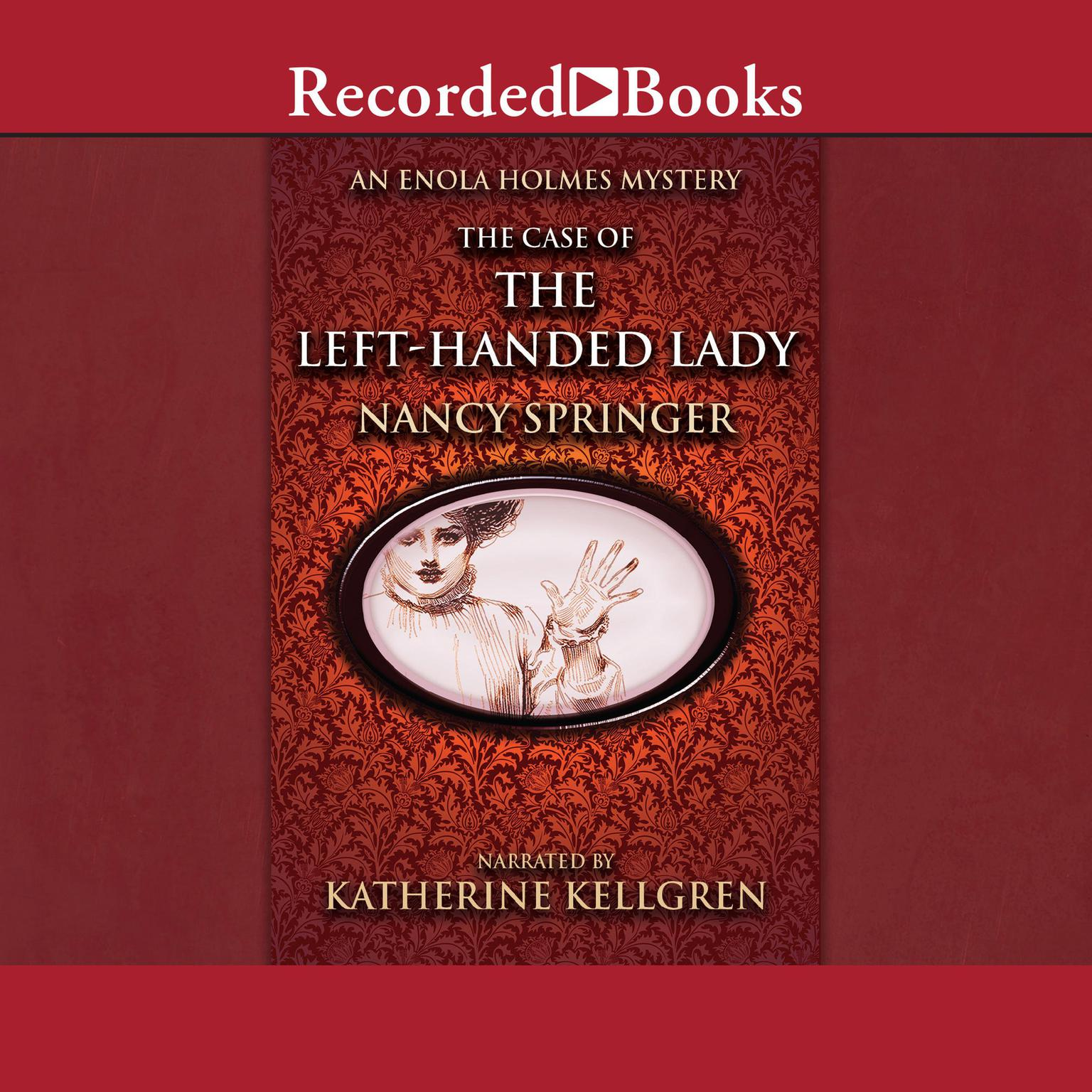 Printable The Case of the Left-Handed Lady Audiobook Cover Art