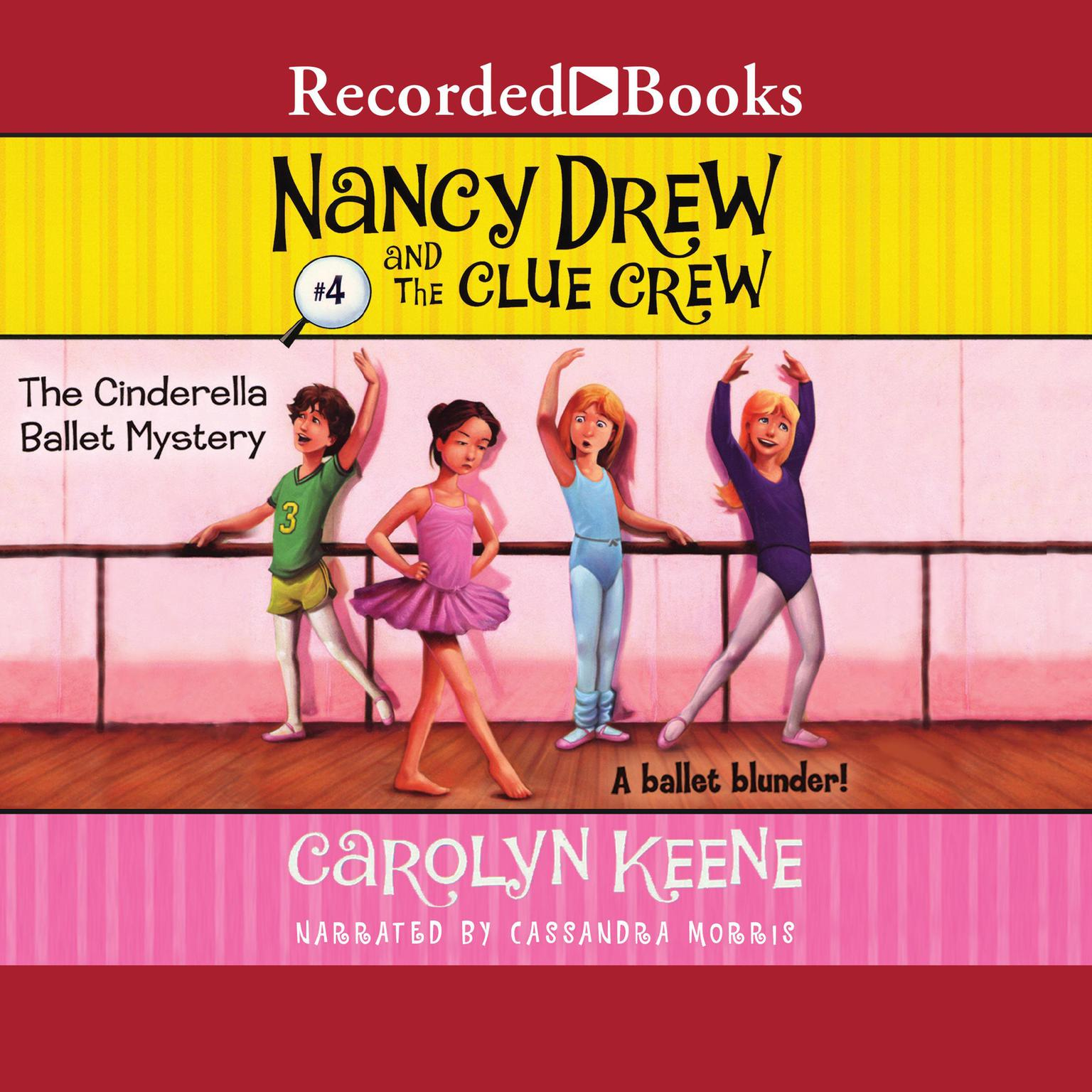 Printable Cinderella Ballet Mystery Audiobook Cover Art