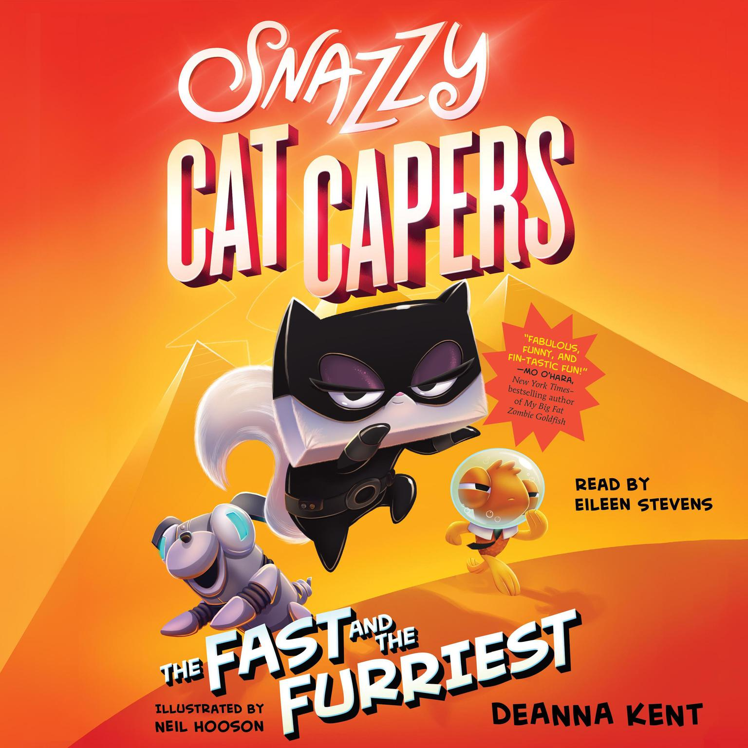 Printable Snazzy Cat Capers: The Fast and the Furriest Audiobook Cover Art