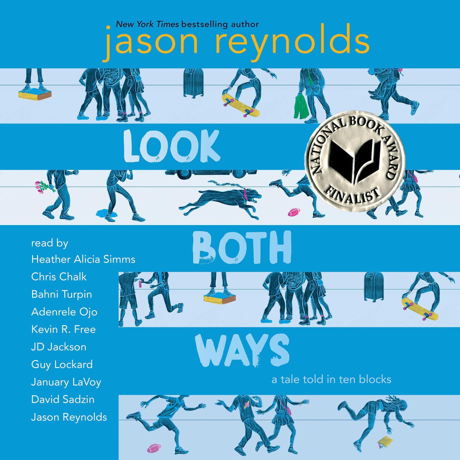 Printable Look Both Ways: A Tale Told in Ten Blocks Audiobook Cover Art