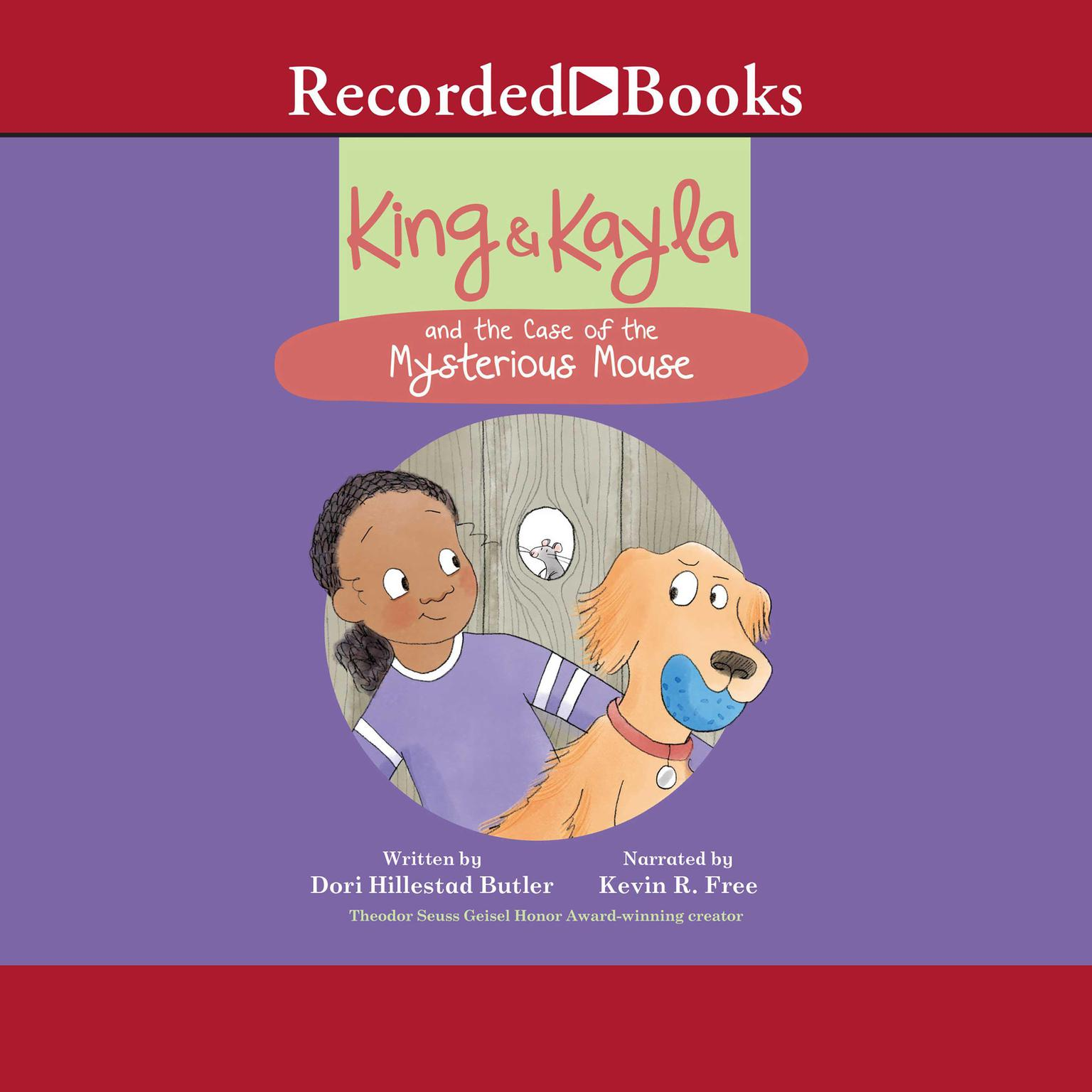 Printable King & Kayla and the Case of the Mysterious Mouse Audiobook Cover Art