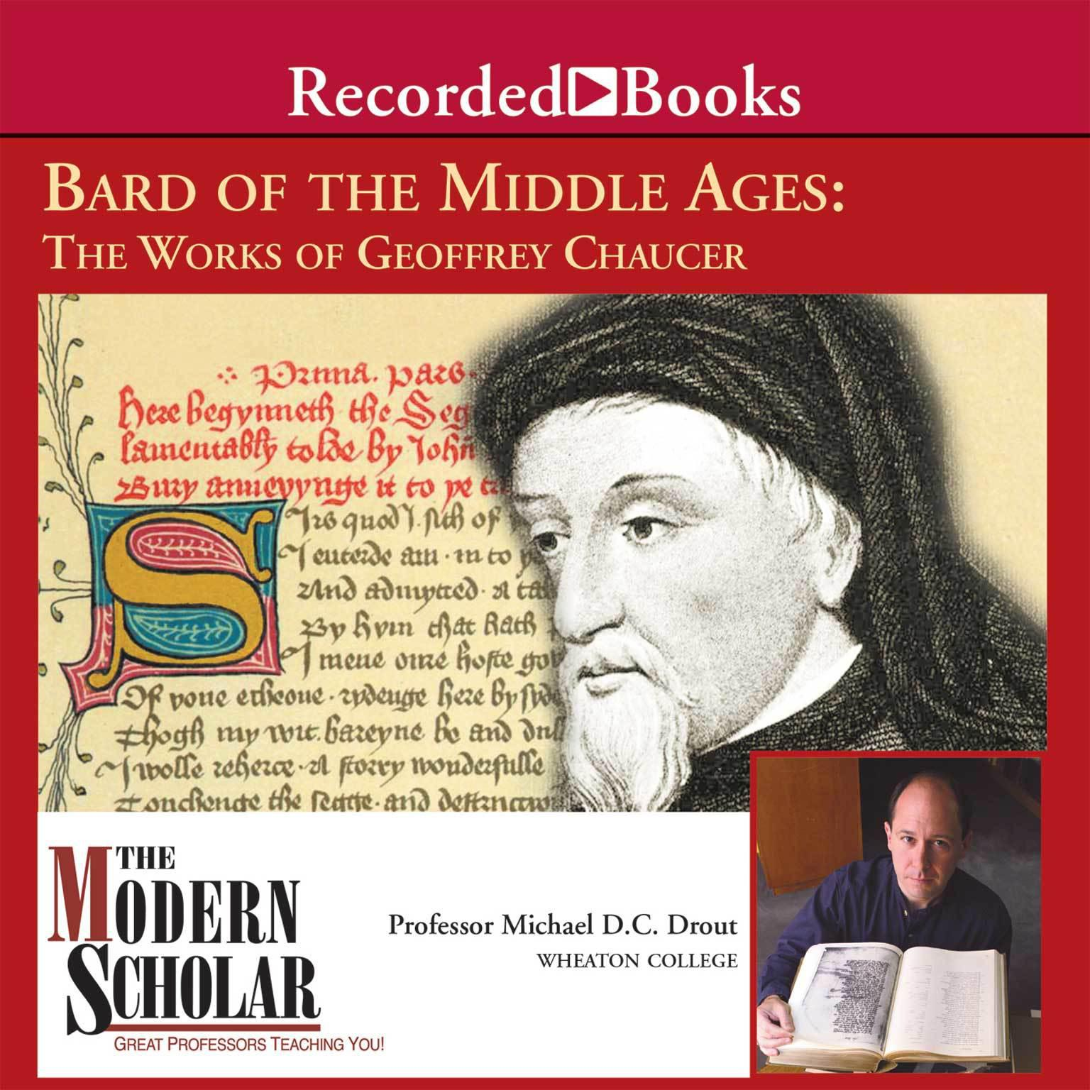 Printable Bard of the Middle Ages: The Works of Geoffrey Chaucer Audiobook Cover Art