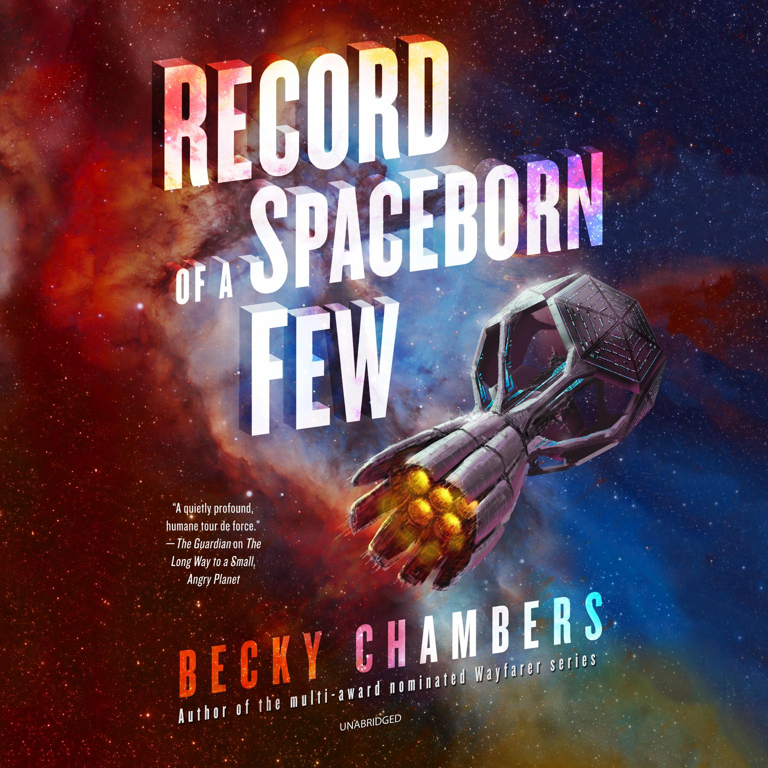 Printable Record of a Spaceborn Few Audiobook Cover Art