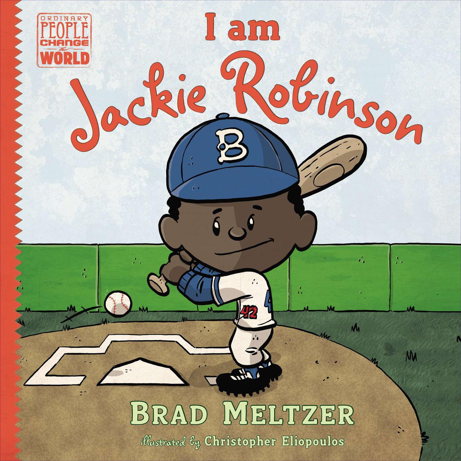 Printable I am Jackie Robinson Audiobook Cover Art