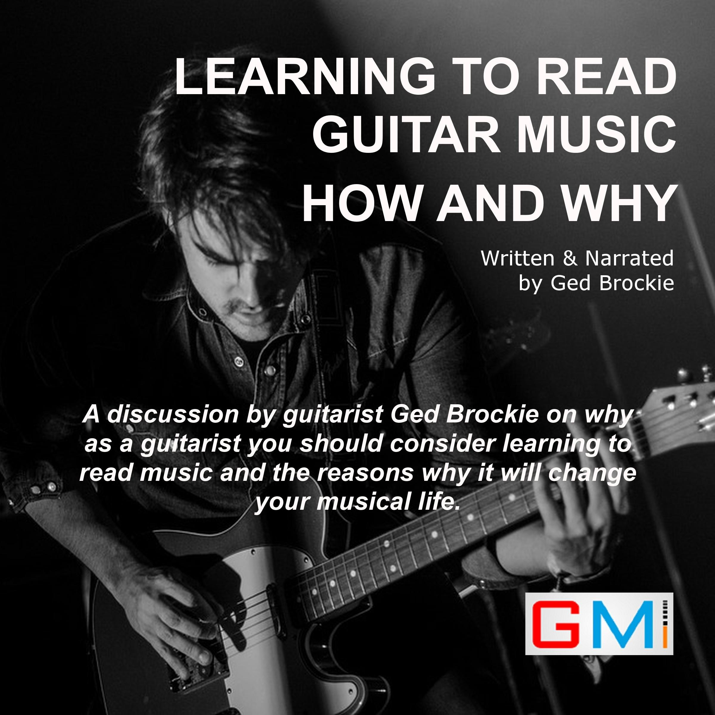 Printable Learning To Read Guitar Music How and Why Audiobook Cover Art