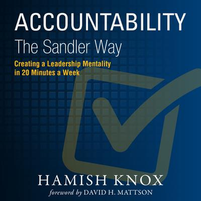 Accountability the Sandler Way Audiobook, by Hamish Knox