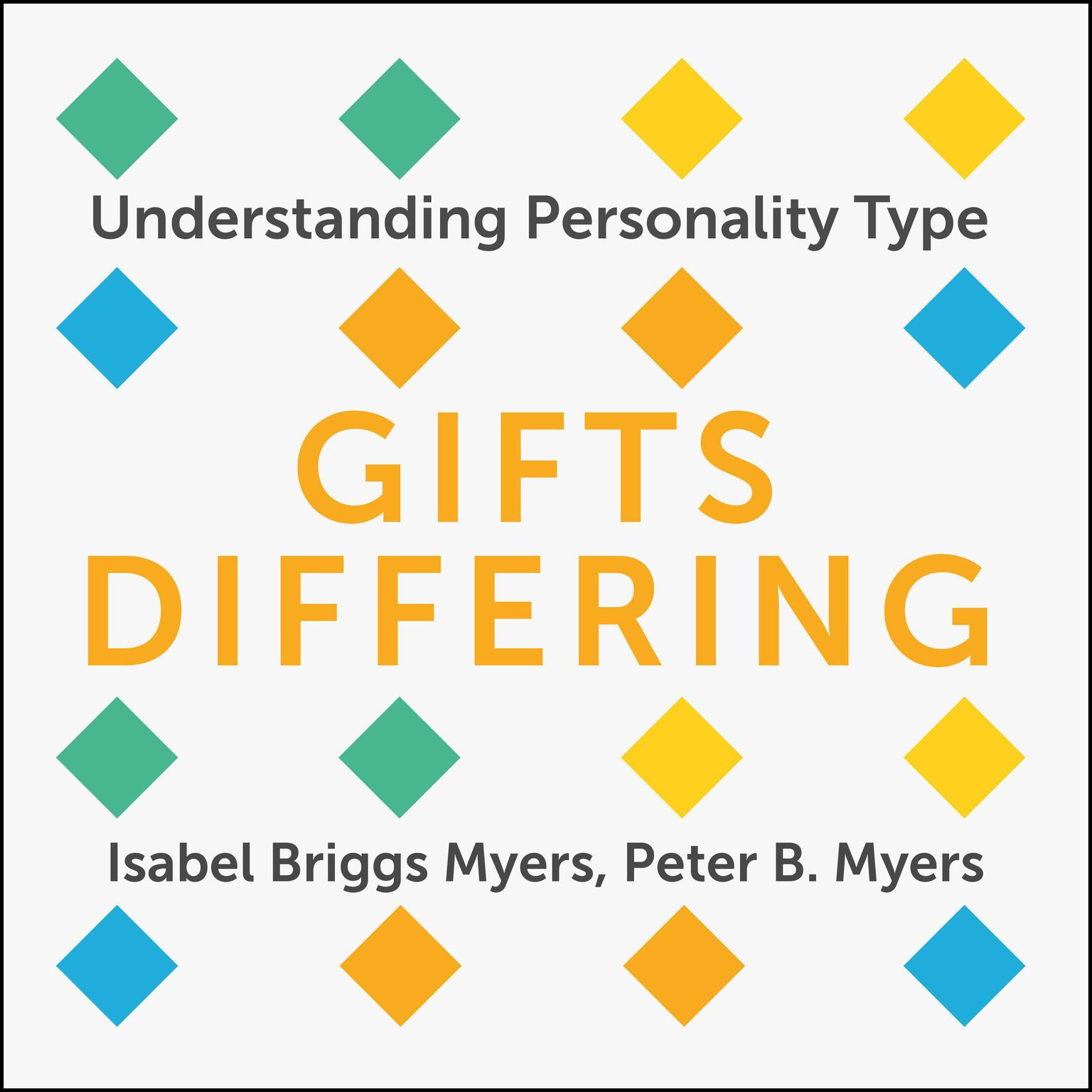 Printable Gifts Differing: Understanding Personality Type Audiobook Cover Art