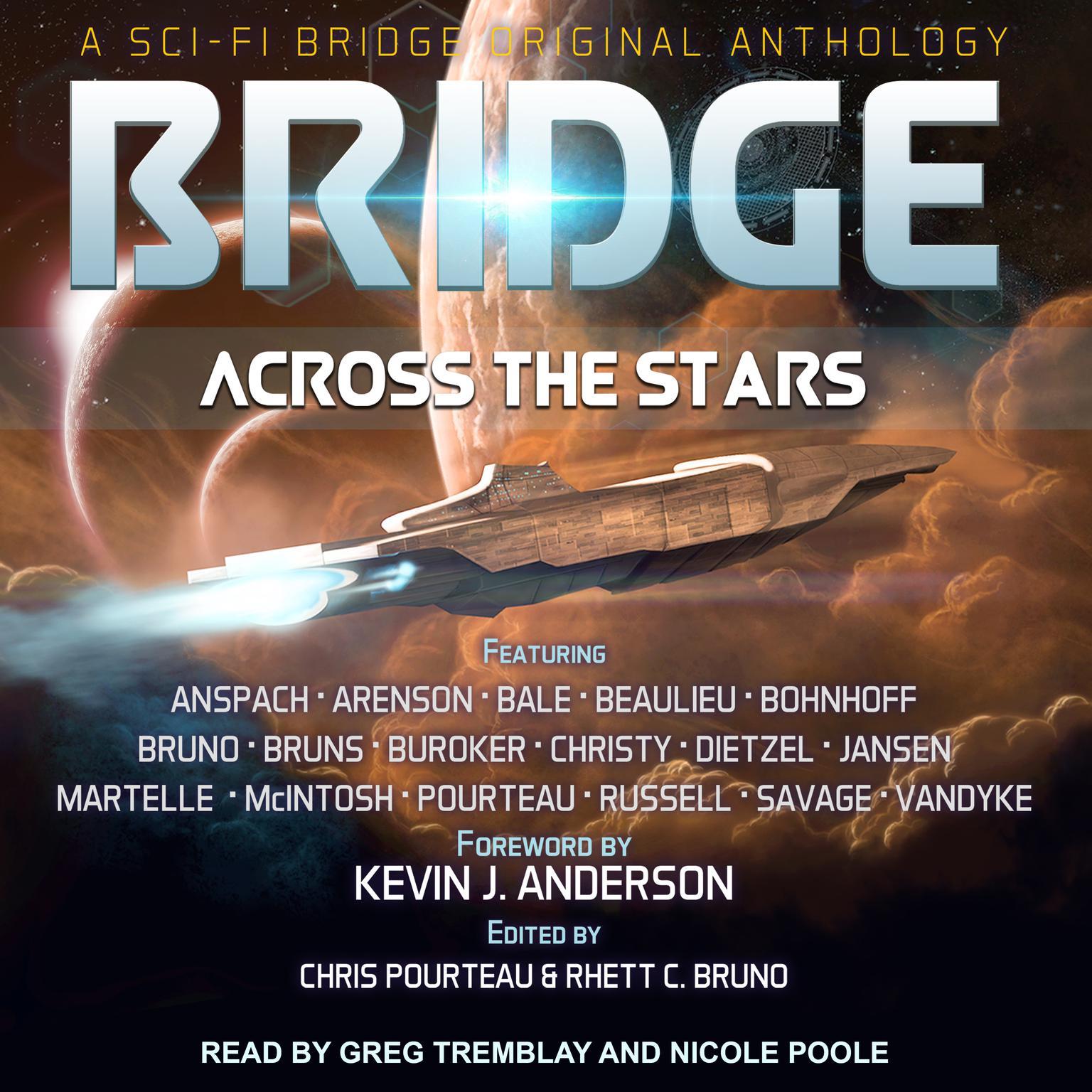 Printable Bridge Across the Stars: A Sci-Fi Bridge Original Anthology Audiobook Cover Art