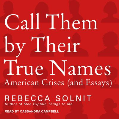 Call Them by Their True Names: American Crises (and Essays) Audiobook, by Rebecca Solnit