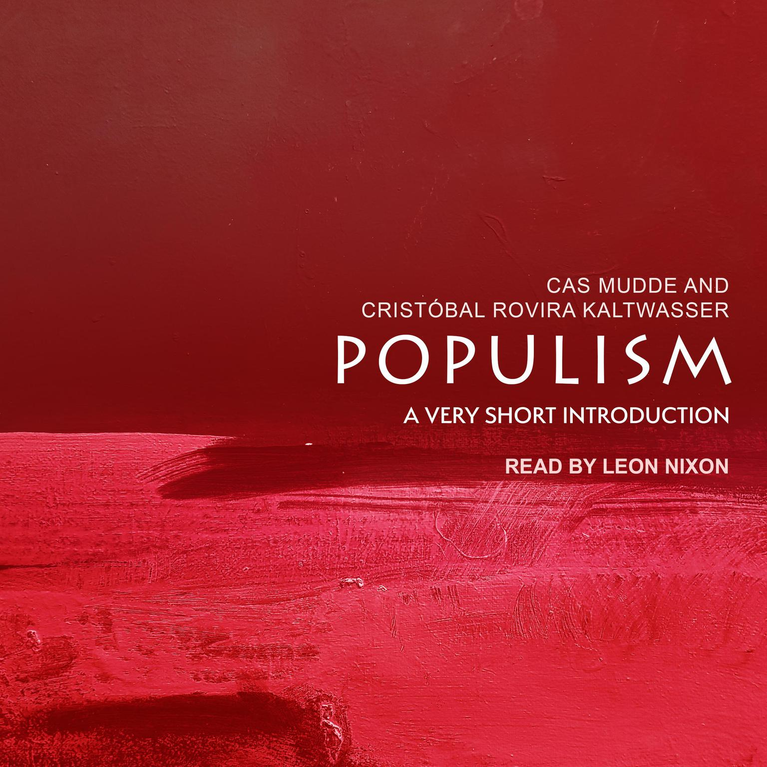Printable Populism: A Very Short Introduction Audiobook Cover Art