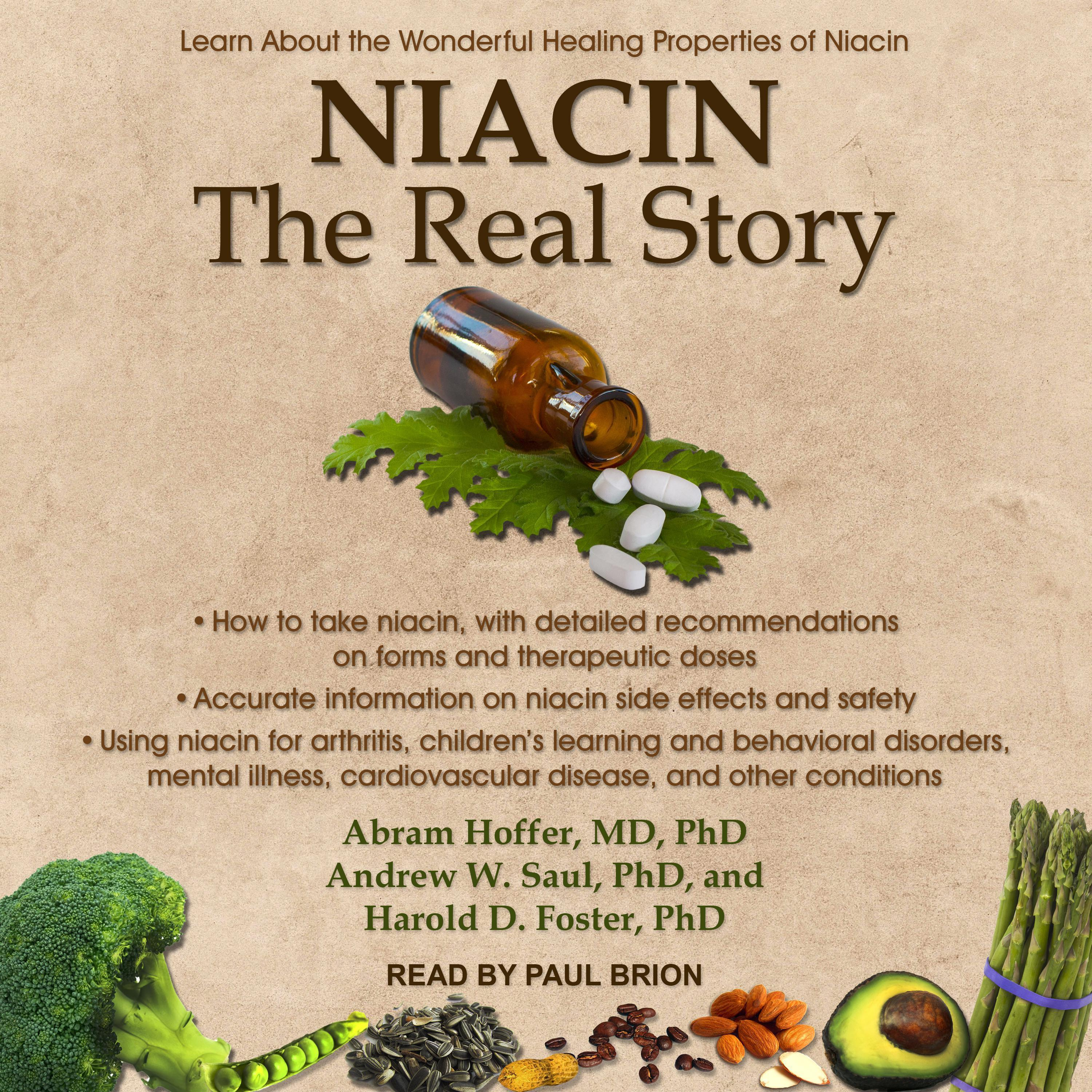 Printable Niacin: The Real Story: Learn about the Wonderful Healing Properties of Niacin Audiobook Cover Art