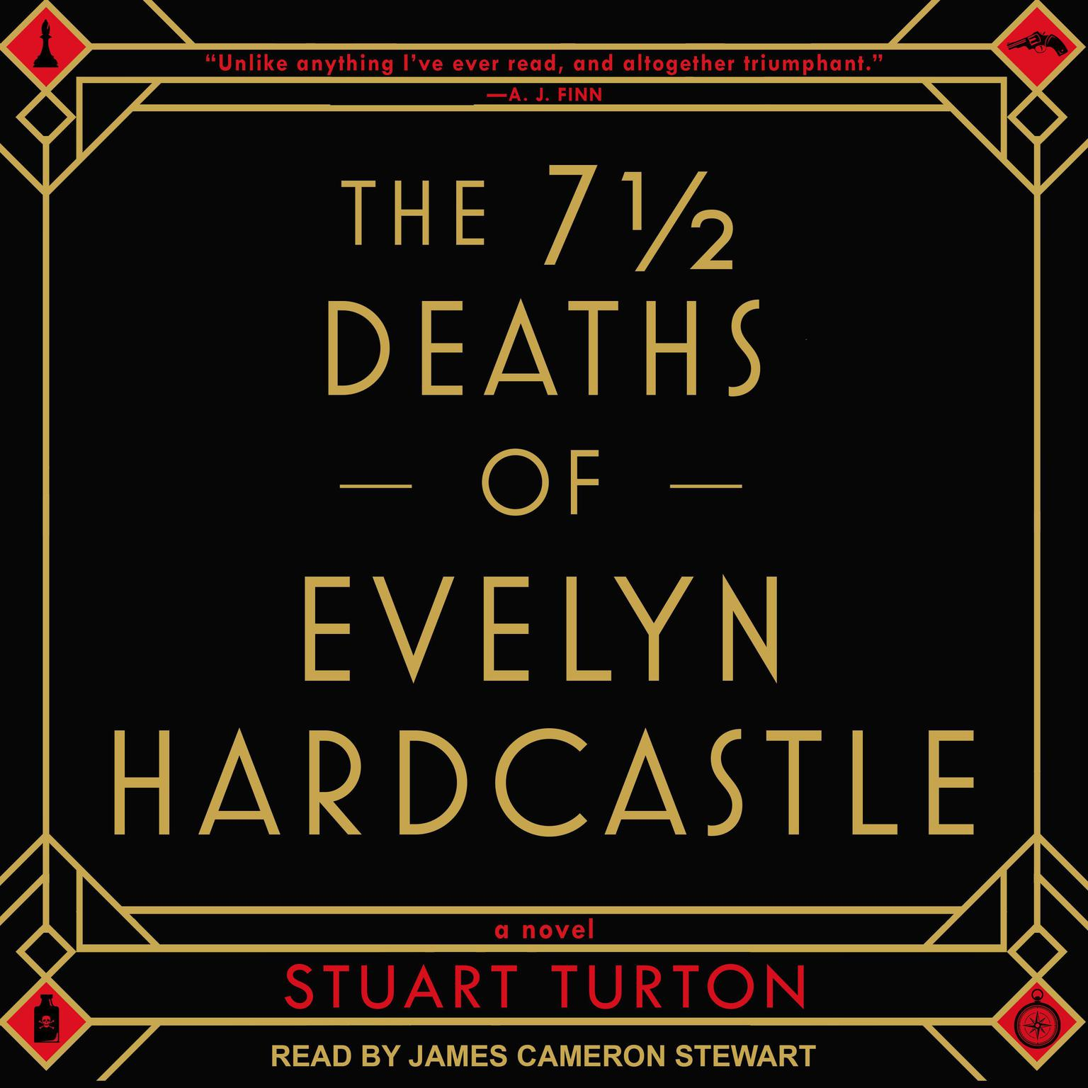 Printable The 7½  Deaths of Evelyn Hardcastle Audiobook Cover Art