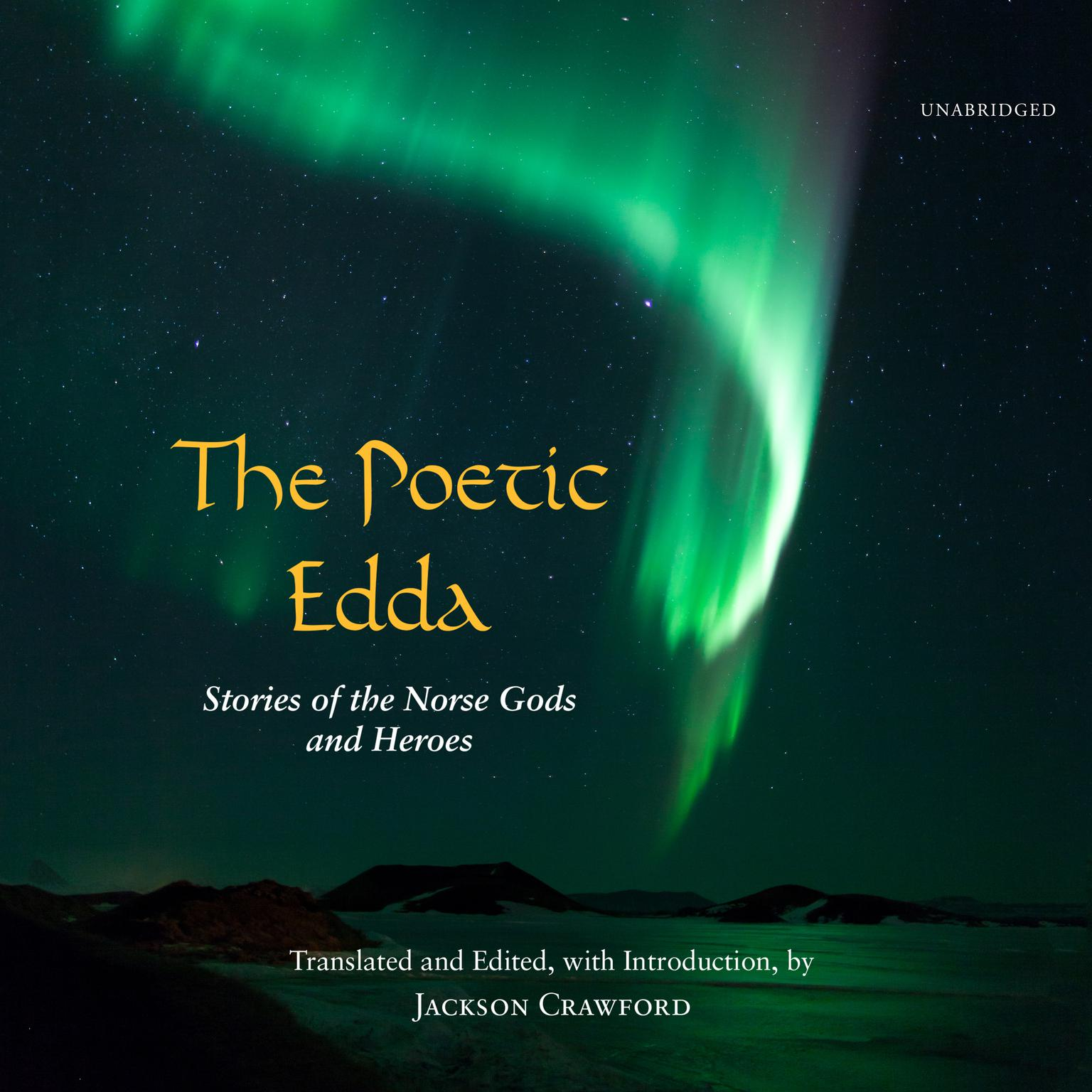 Printable The Poetic Edda: Stories of the Norse Gods and Heroes Audiobook Cover Art
