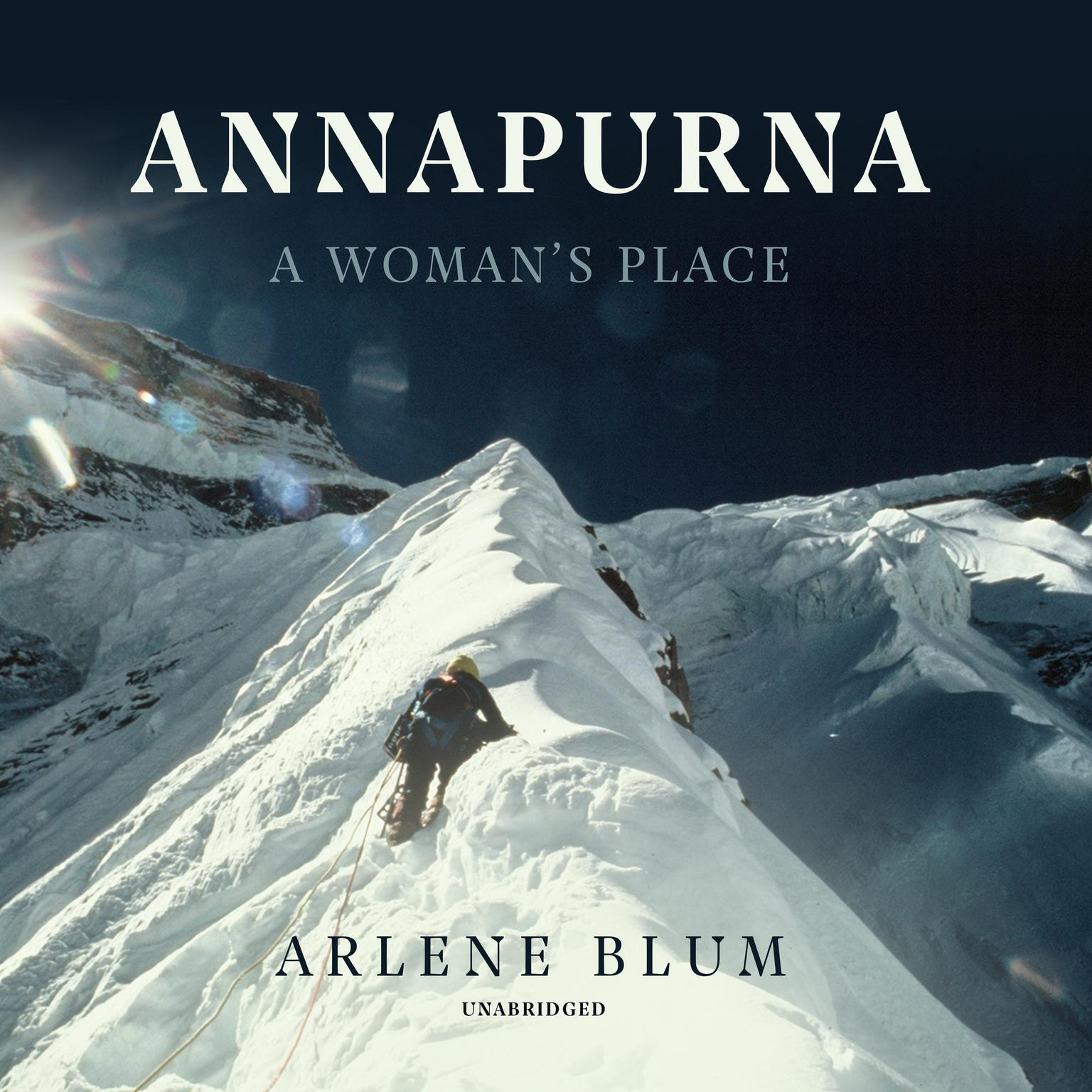 Printable Annapurna: A Woman's Place Audiobook Cover Art