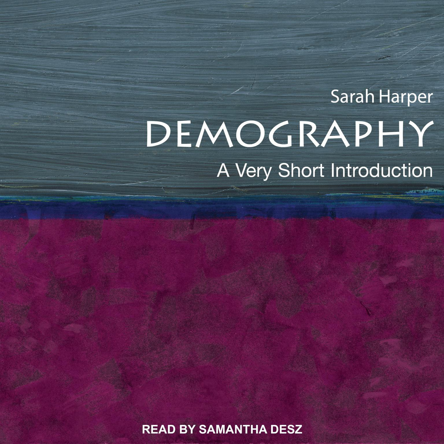 Printable Demography: A Very Short Introduction Audiobook Cover Art