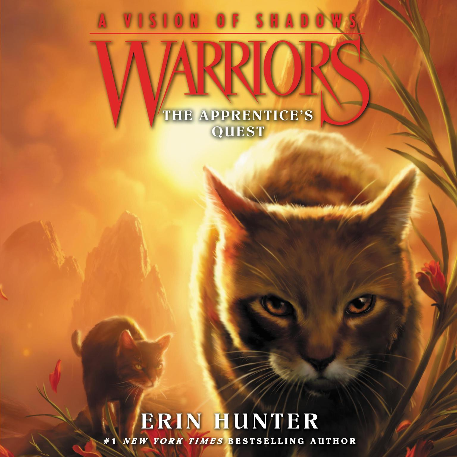 Printable Warriors: A Vision of Shadows #1: The Apprentice's Quest Audiobook Cover Art