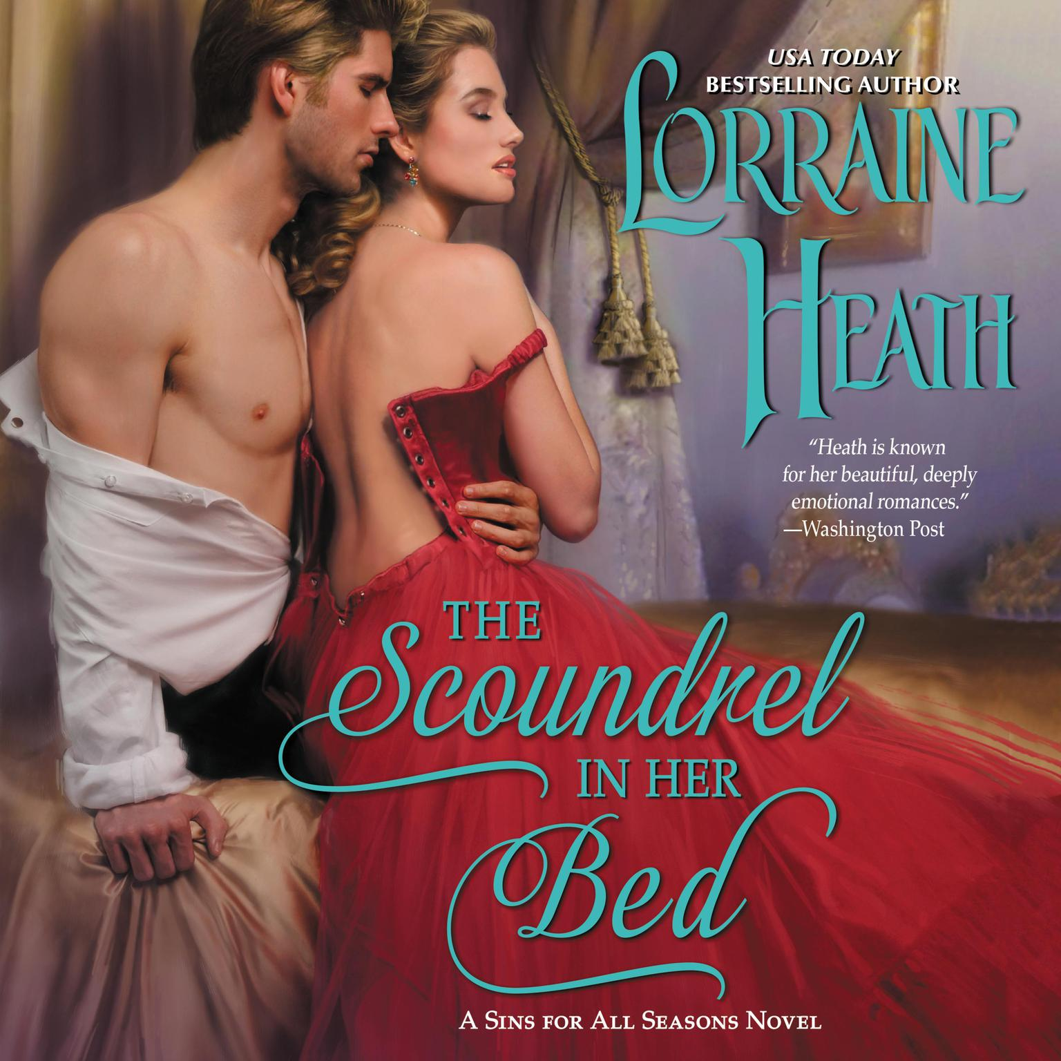 Printable The Scoundrel in Her Bed: A Sin for All Seasons Novel Audiobook Cover Art
