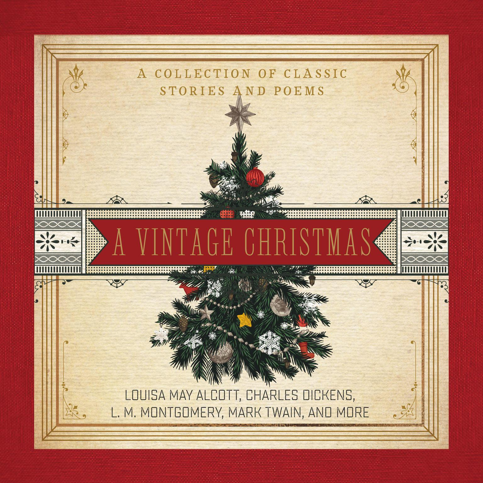 Printable A Vintage Christmas: A Collection of Classic Stories and Poems Audiobook Cover Art