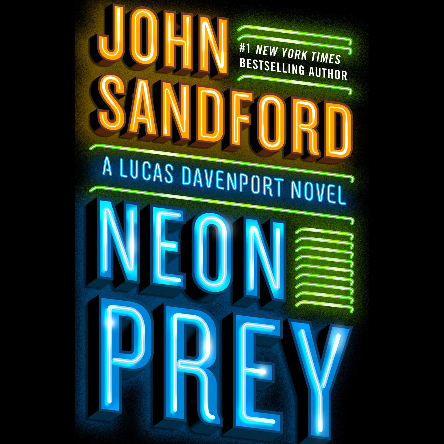 Printable Neon Prey Audiobook Cover Art