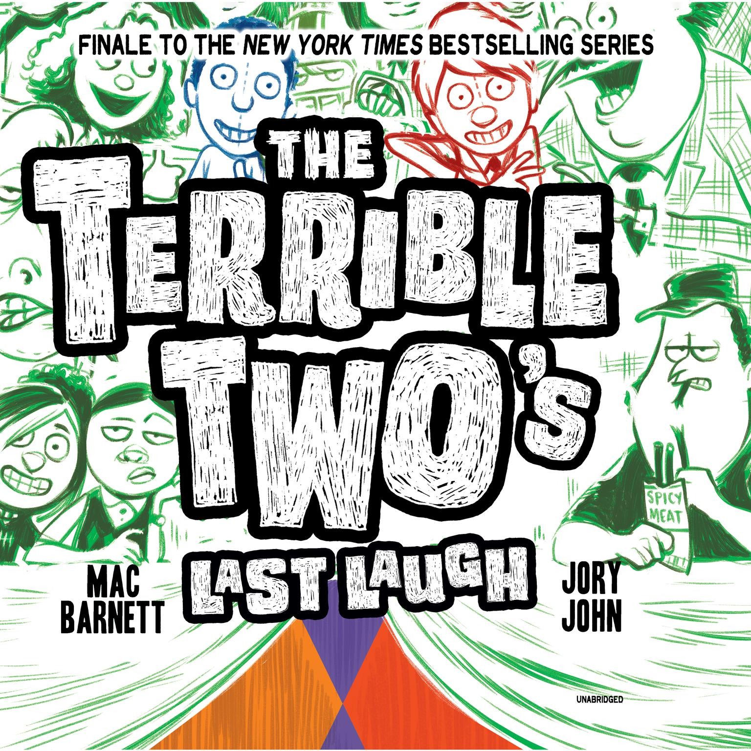 Printable The Terrible Two's Last Laugh Audiobook Cover Art