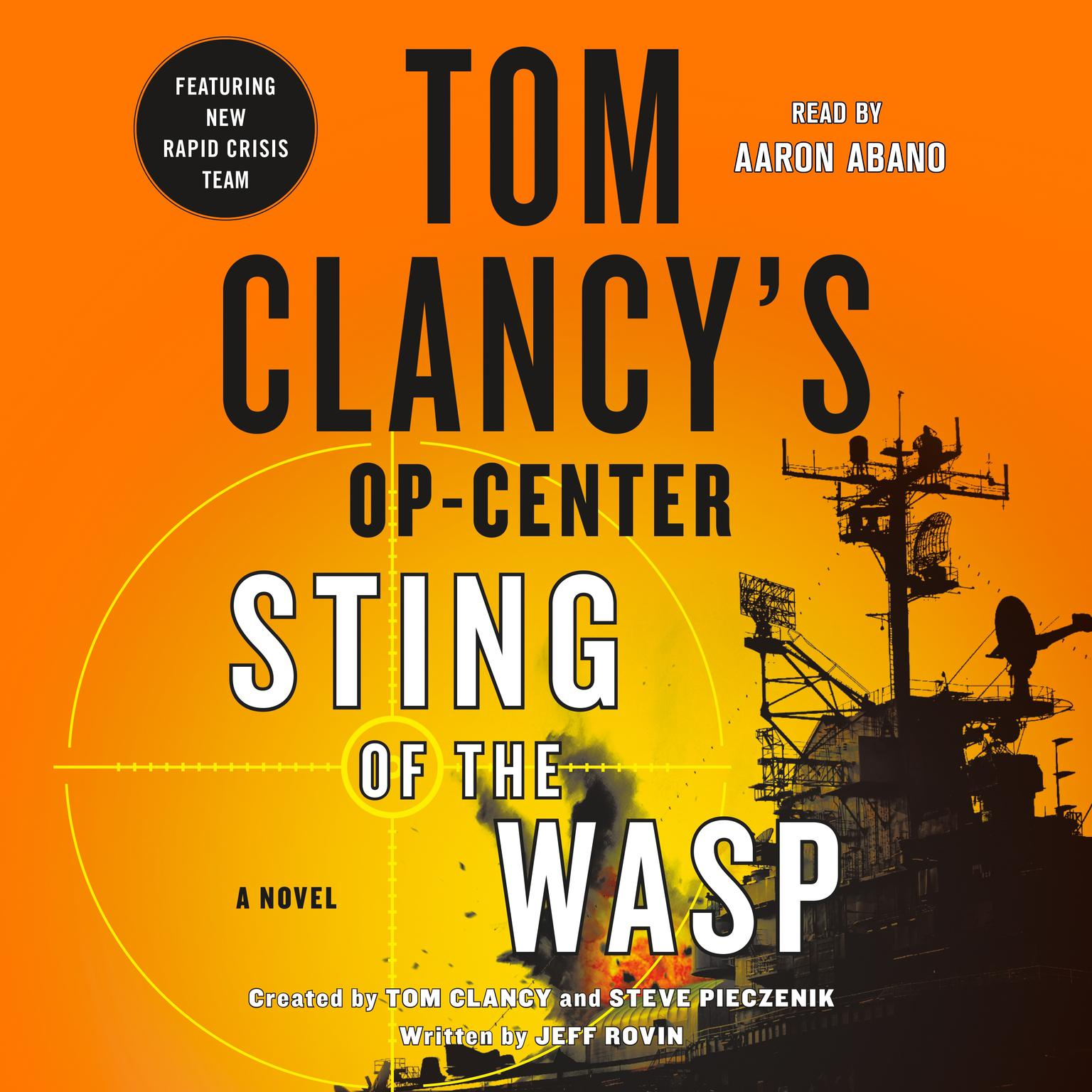 Printable Tom Clancy's Op-Center: Sting of the Wasp Audiobook Cover Art