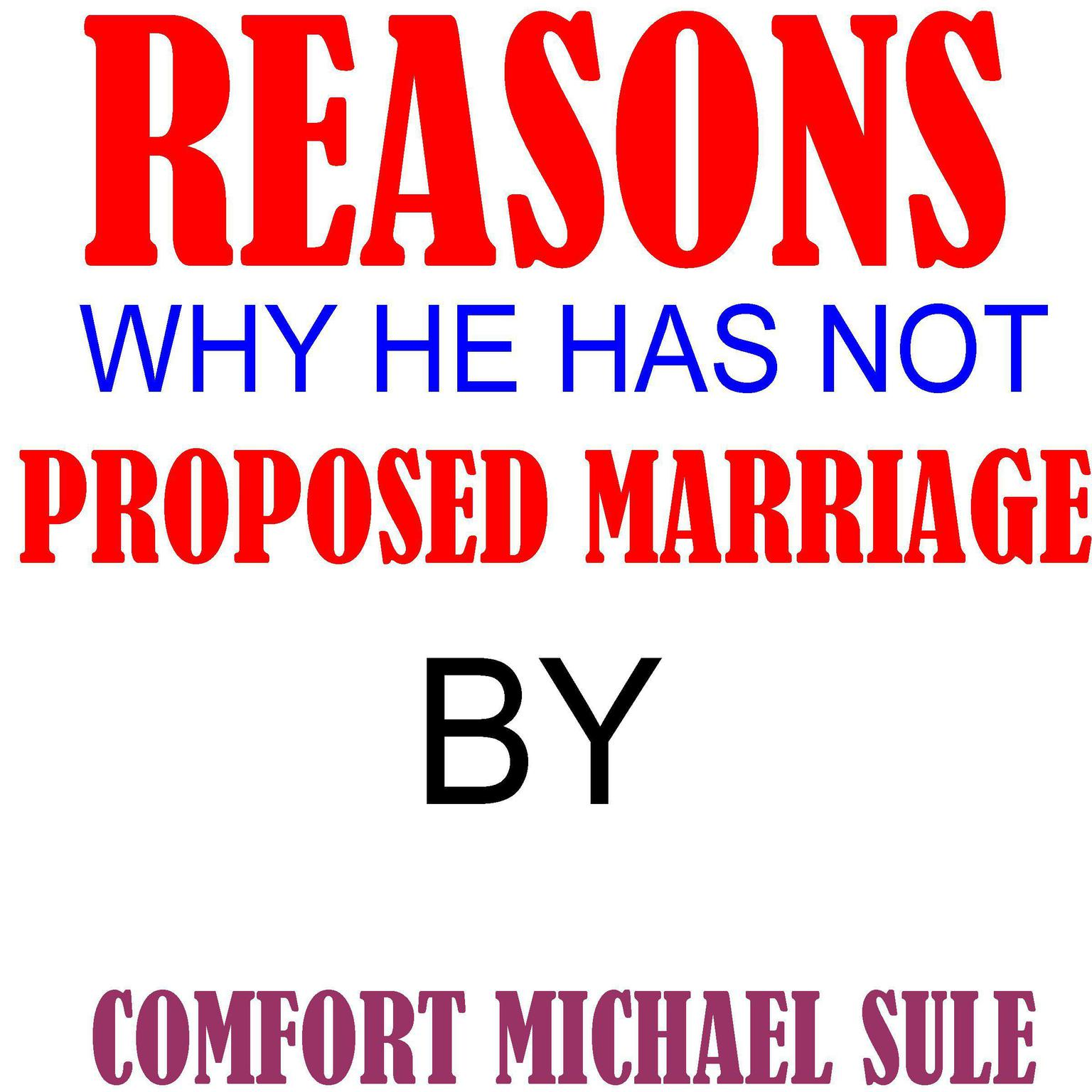 Printable Reasons Why He Has Not Proposed Marriage Audiobook Cover Art