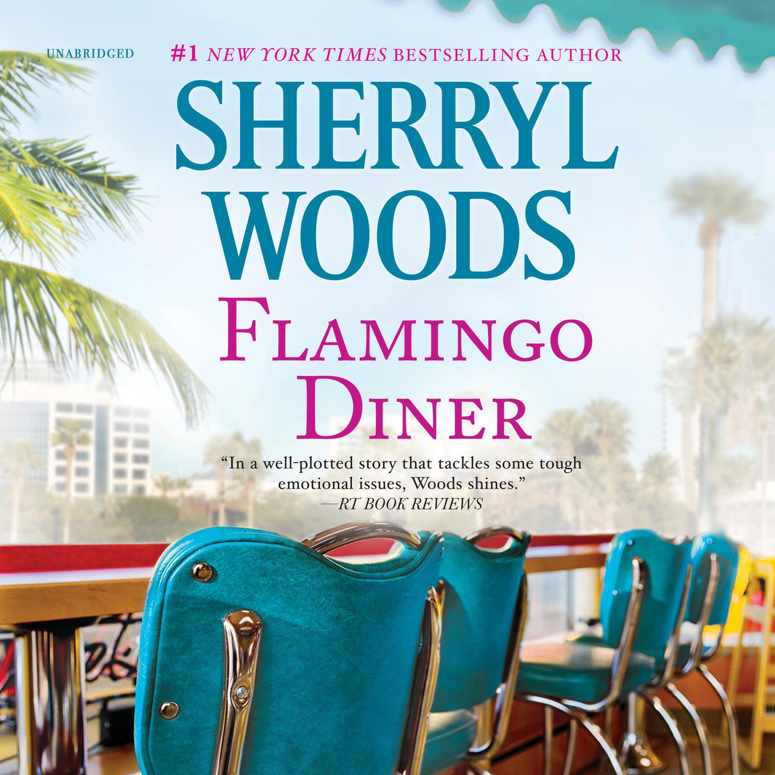 Printable Flamingo Diner Audiobook Cover Art