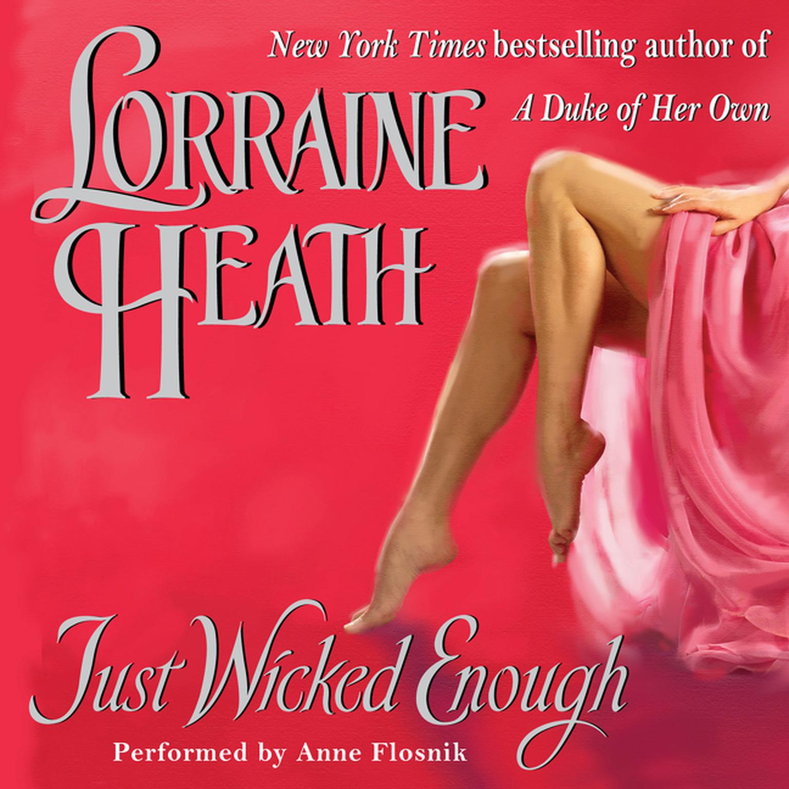 Printable Just Wicked Enough Audiobook Cover Art