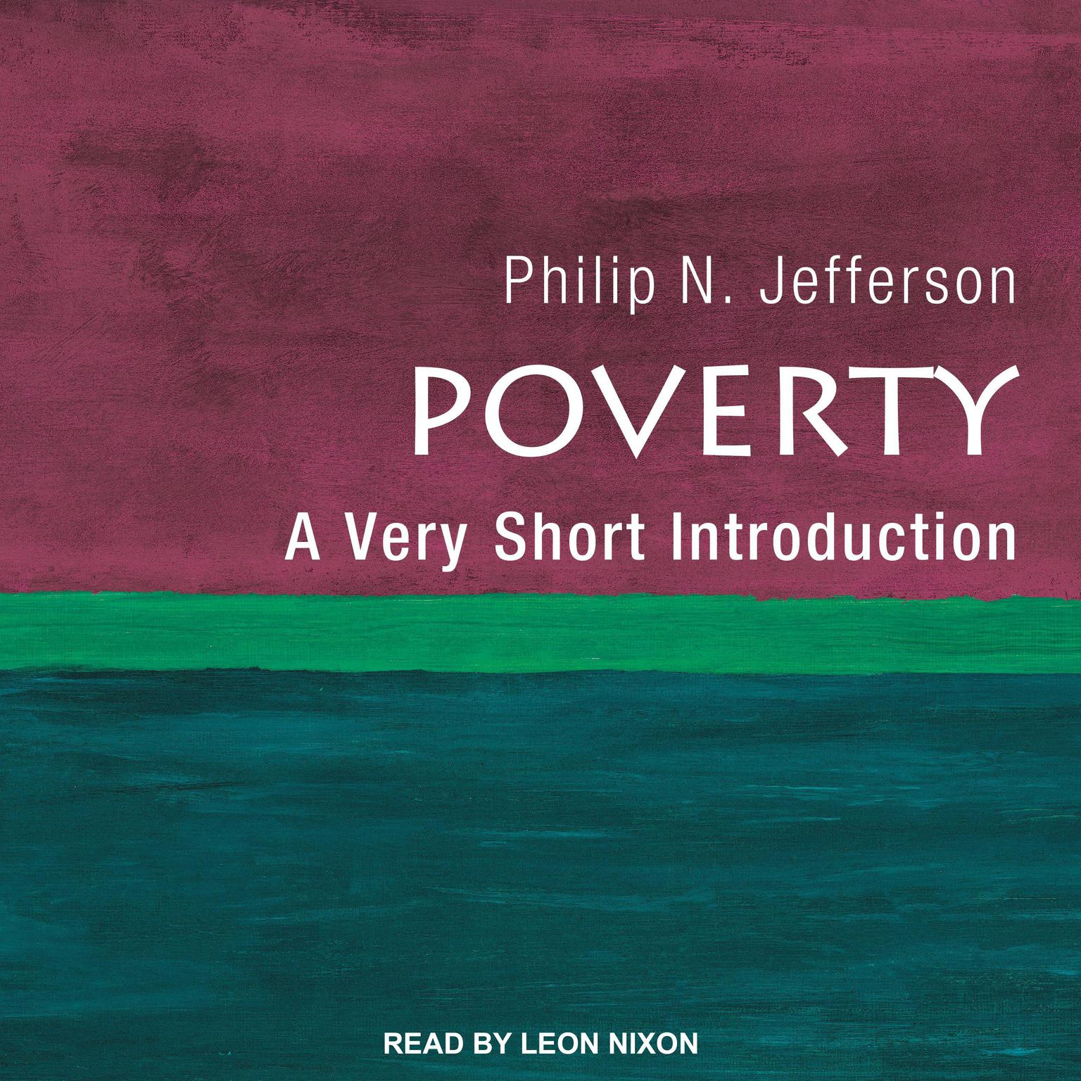 Printable Poverty: A Very Short Introduction Audiobook Cover Art